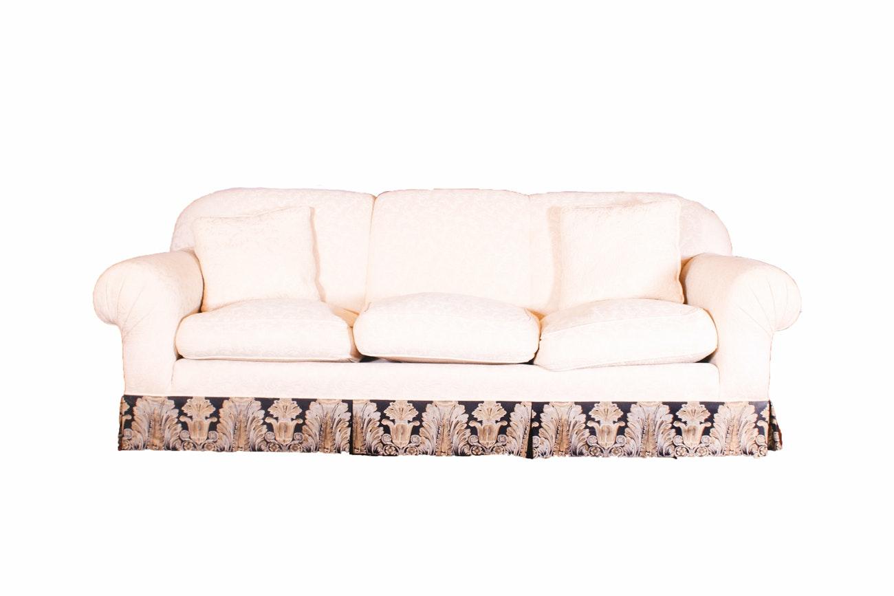 Traditional Three-Cushion Sofa