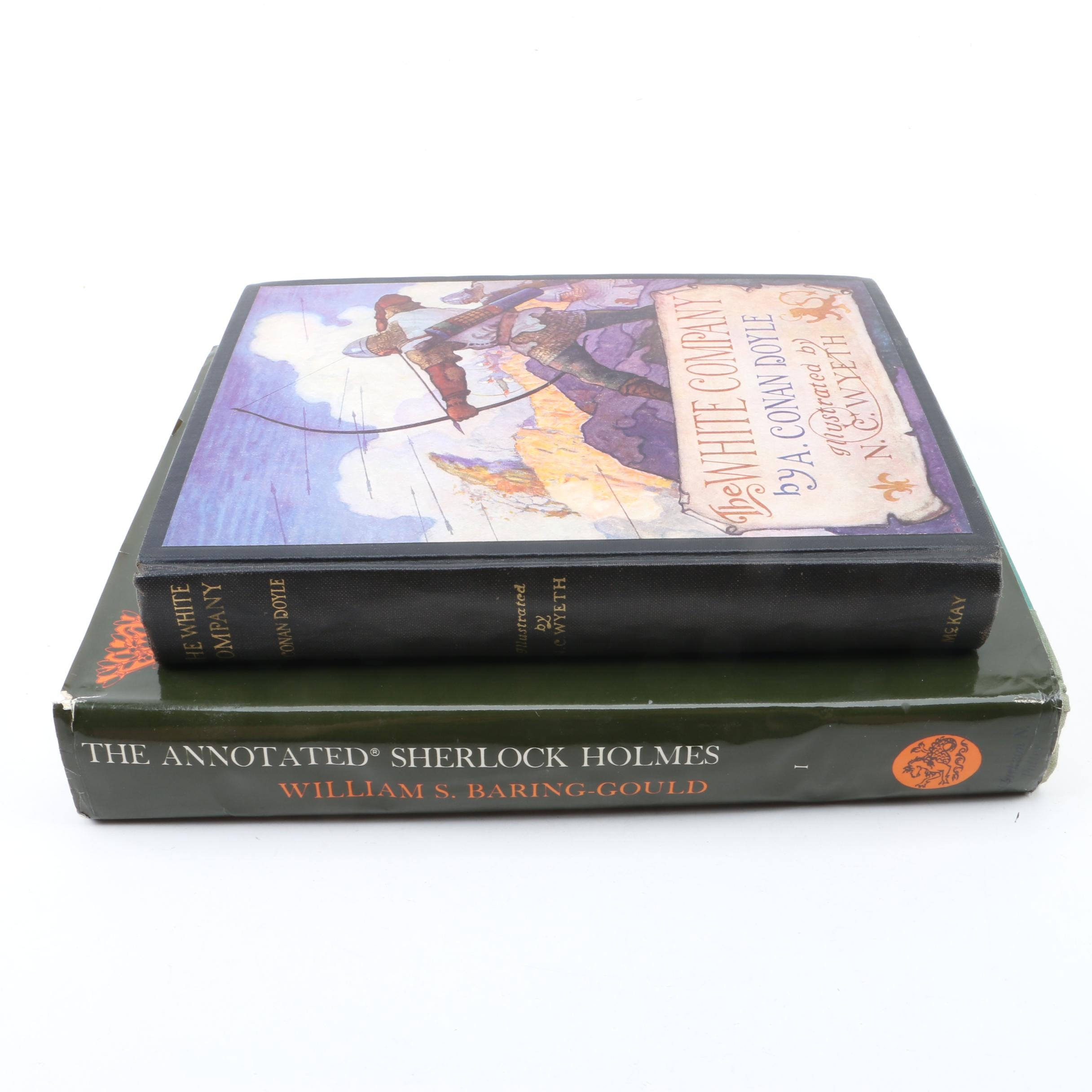 "Arthur Conan Doyle Books Including N. C. Wyeth Illustrated ""The White Company"""