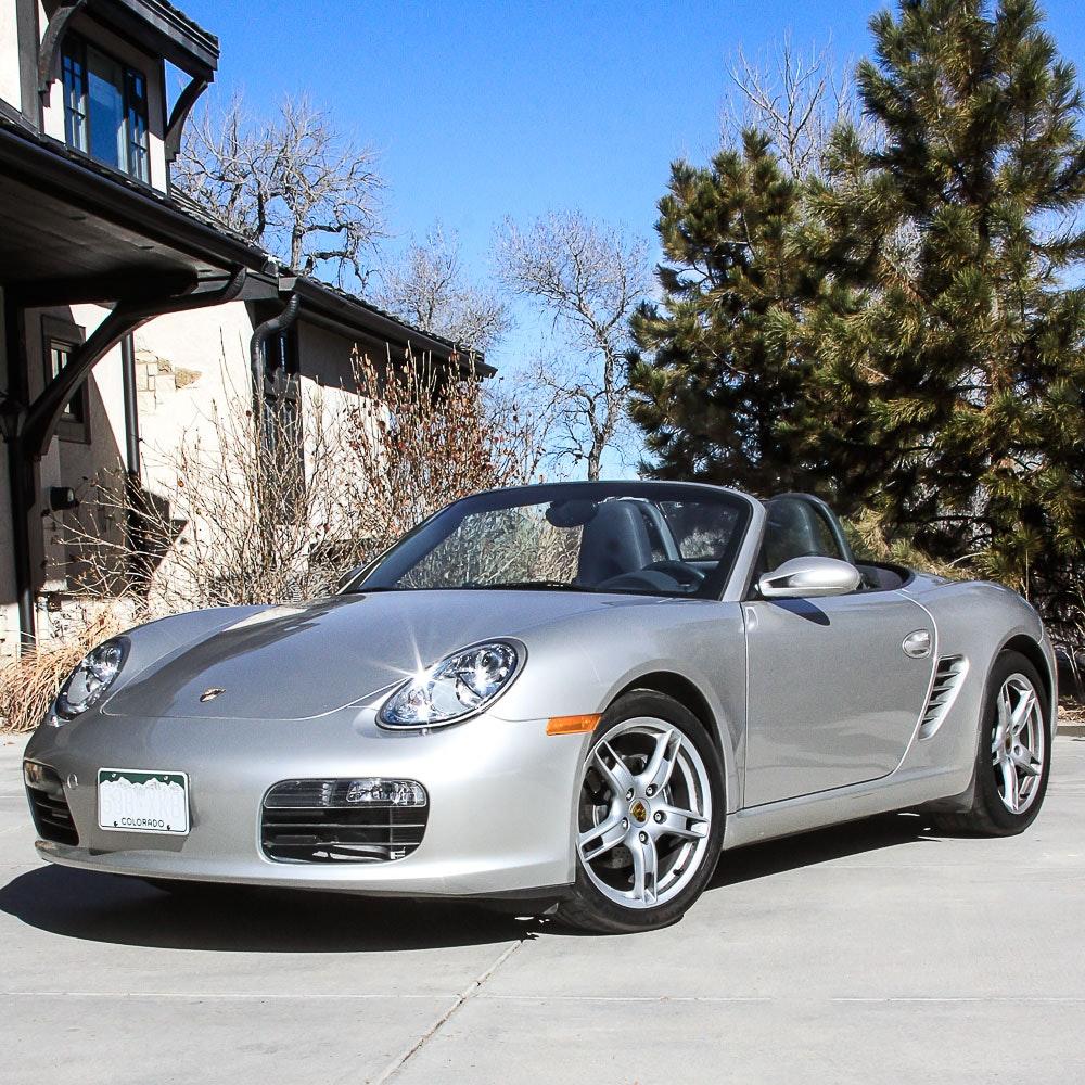 2005 Silver Porsche Boxster Convertible