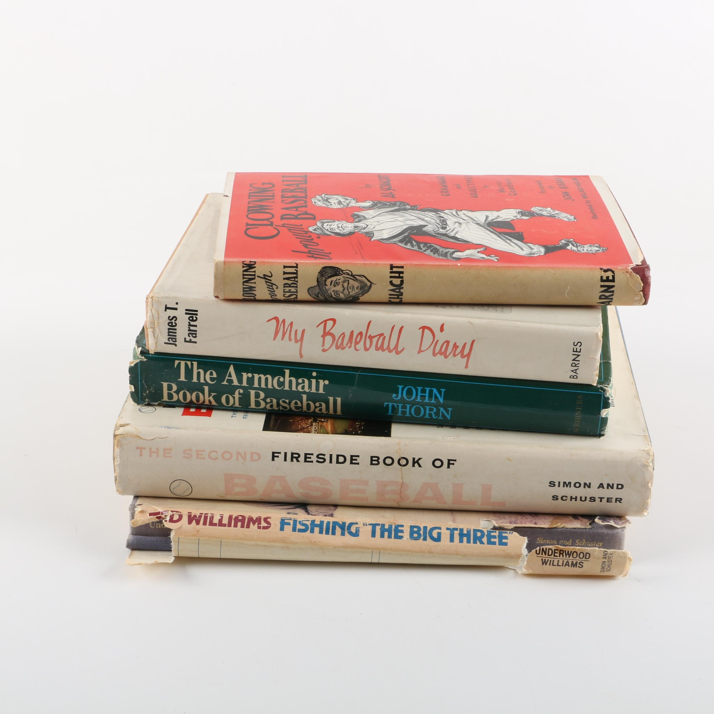 """Books on Baseball with 1958 """"The Second Fireside Book of Baseball"""""""