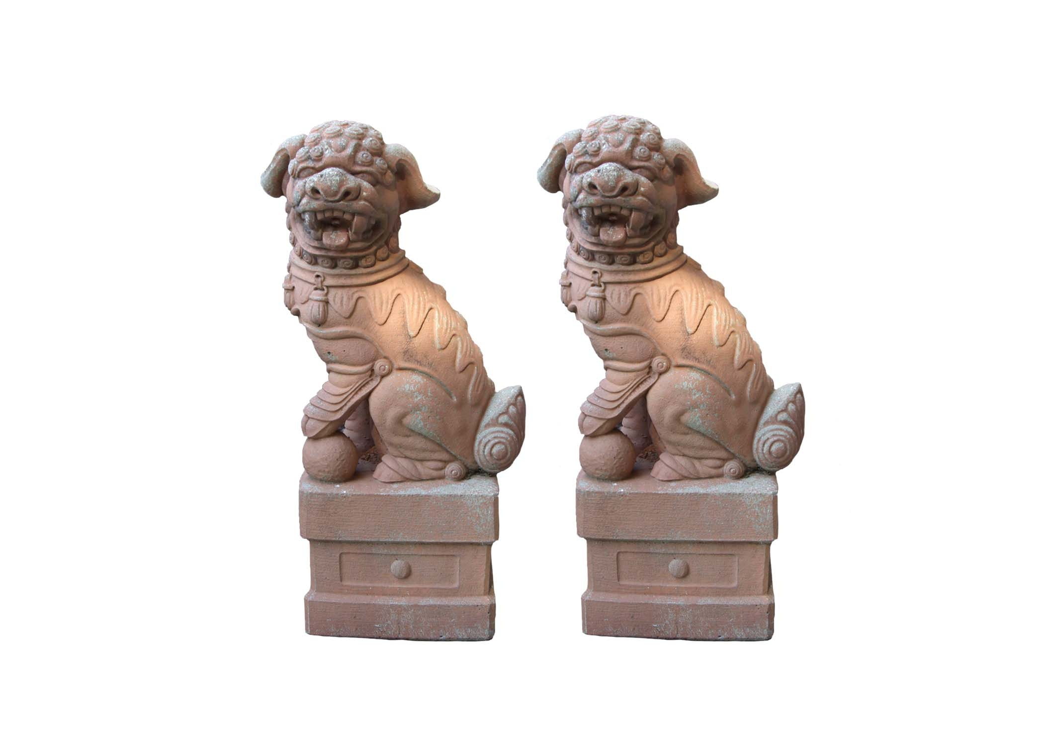 Chinese Imperial Garden Lion Statues