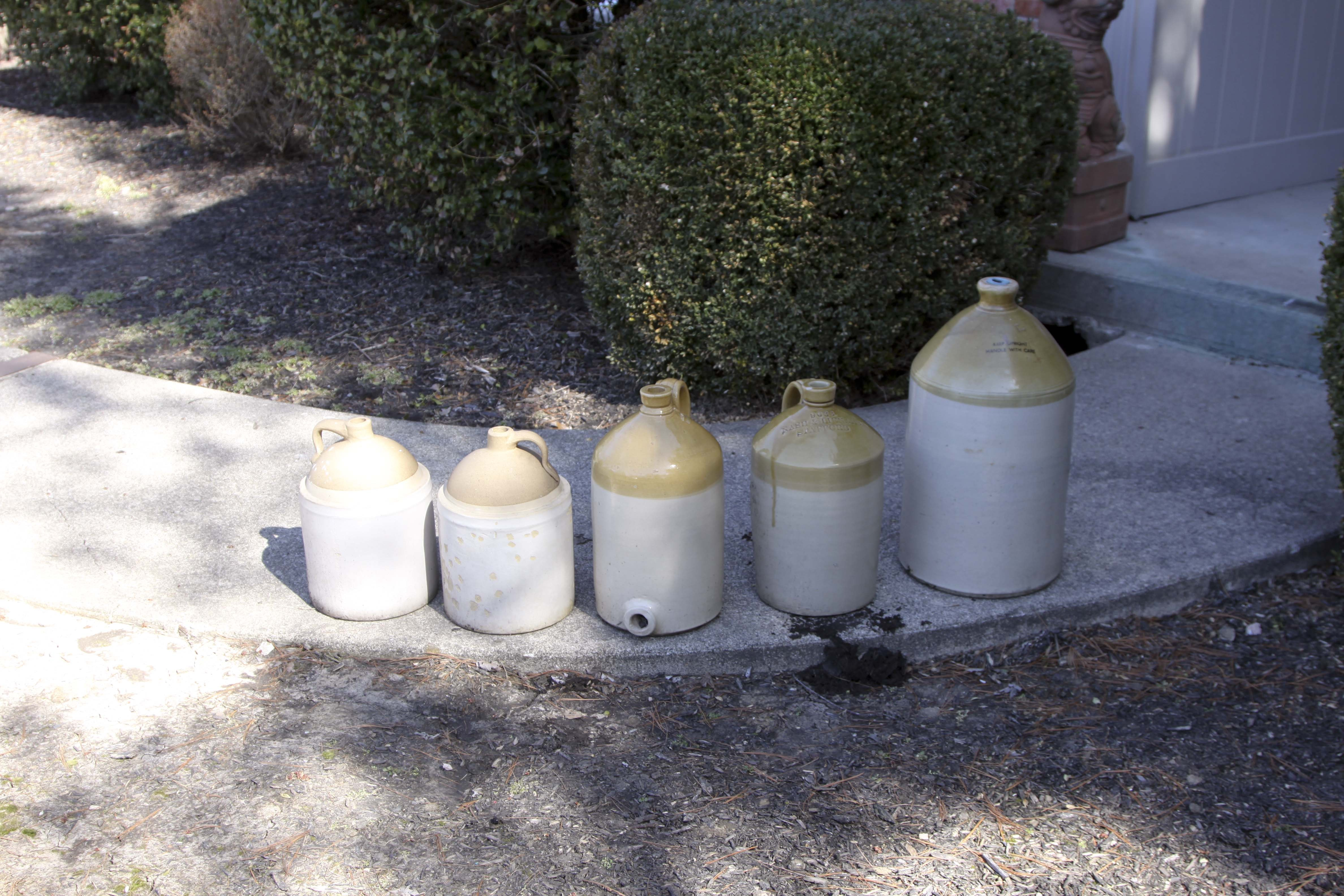 Collection of English and Other Stoneware Jugs