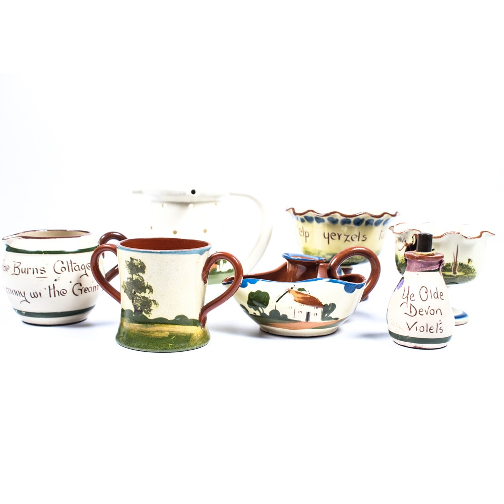 Vintage to Semi-Antique English Longpark Torquay Tableware and Decor