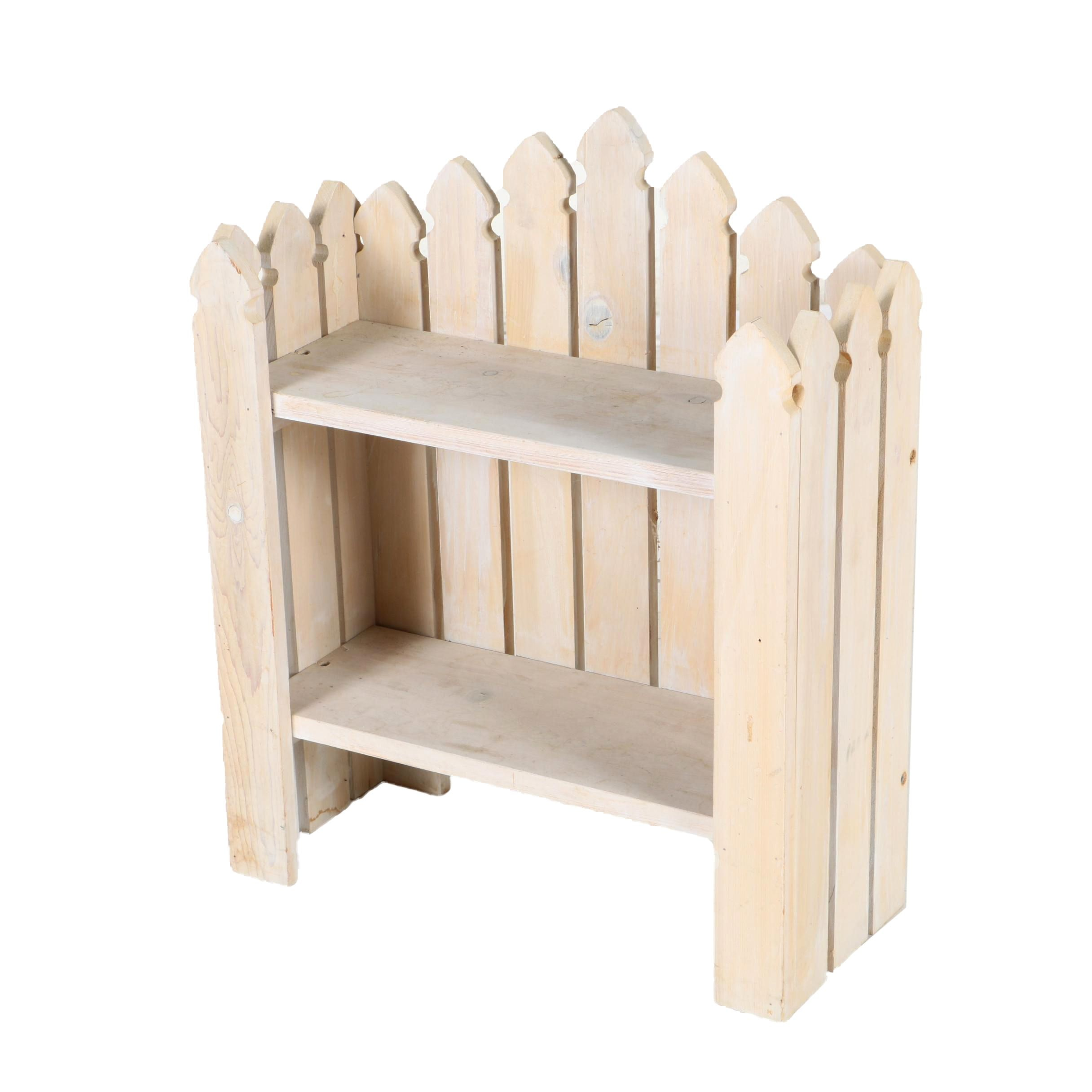 Wood Fence Framed Wall or Table Shelving