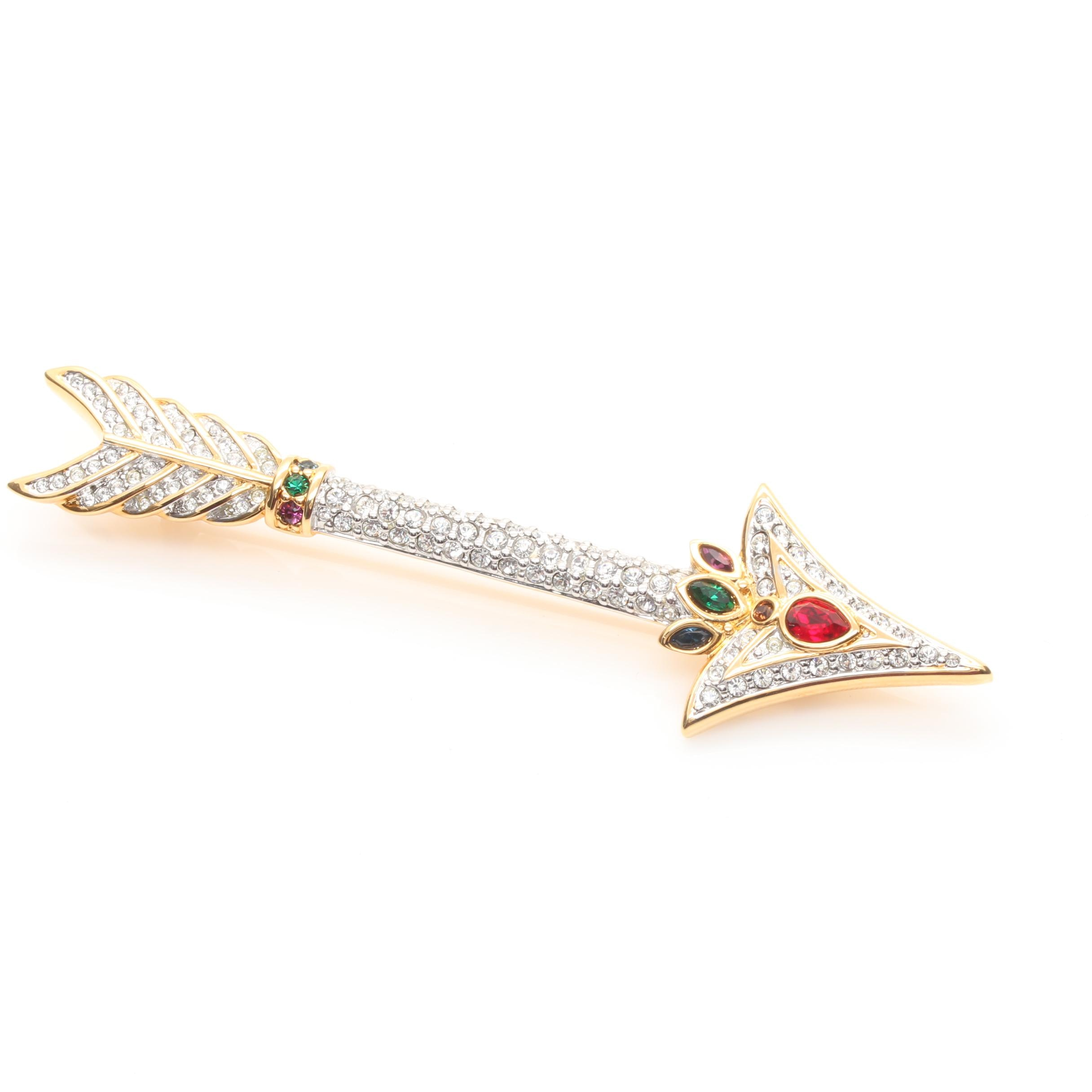 Swarovski Glass Arrow Brooch