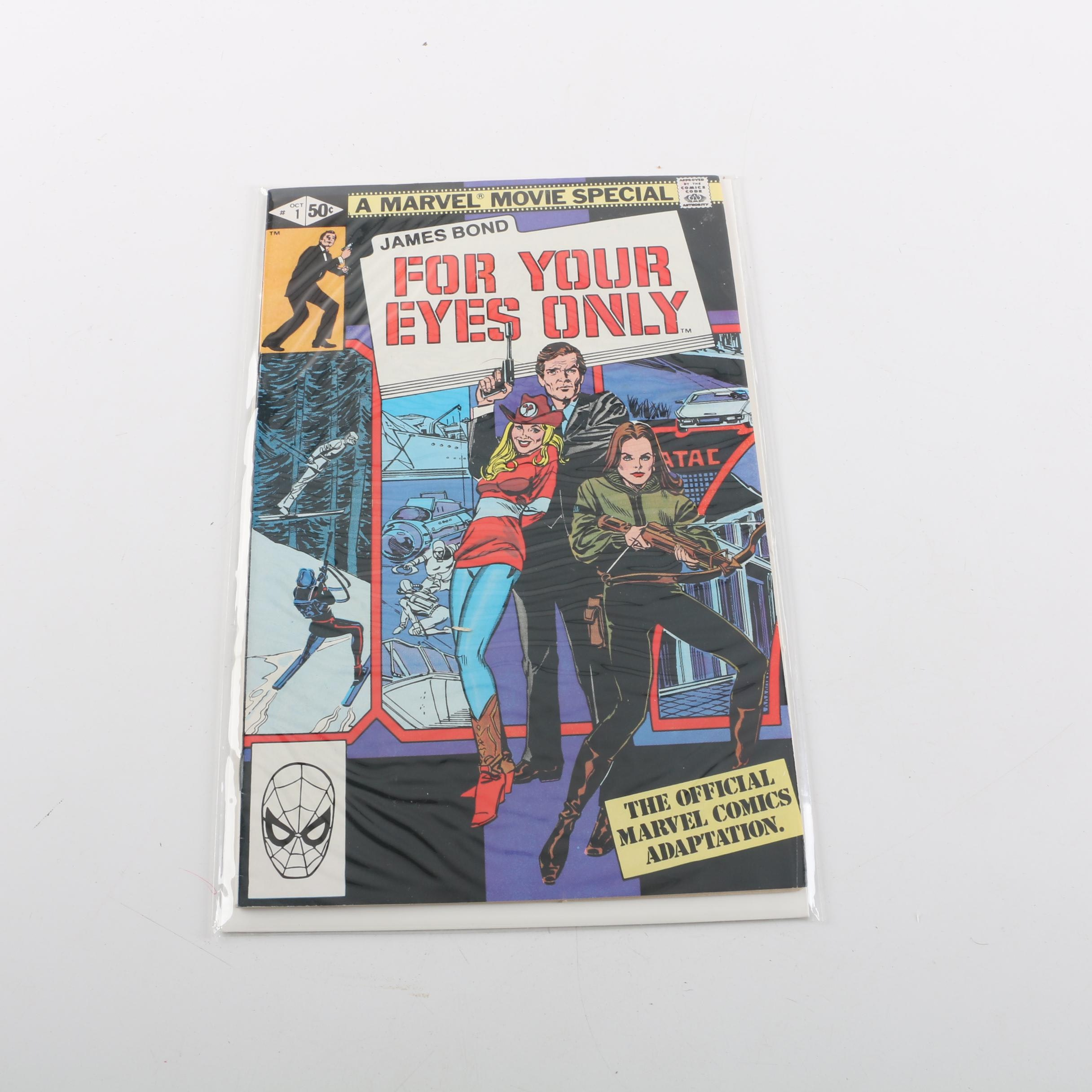 """1981 Marvel Movie Special """"James Bond: For Your Eyes Only"""" Issue #1"""