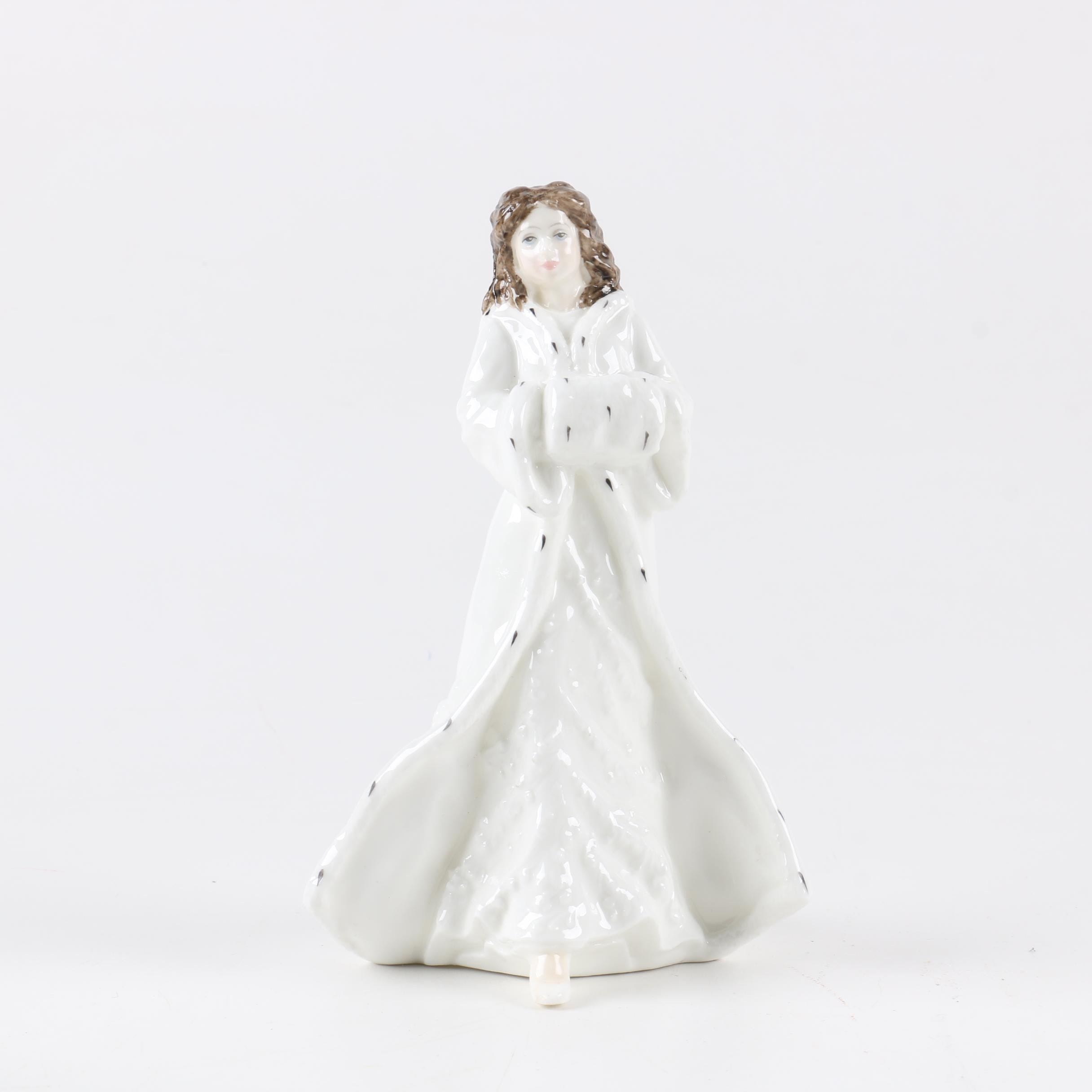 "Royal Doulton ""Christmas Day"" Porcelain Figurine HN 3488"