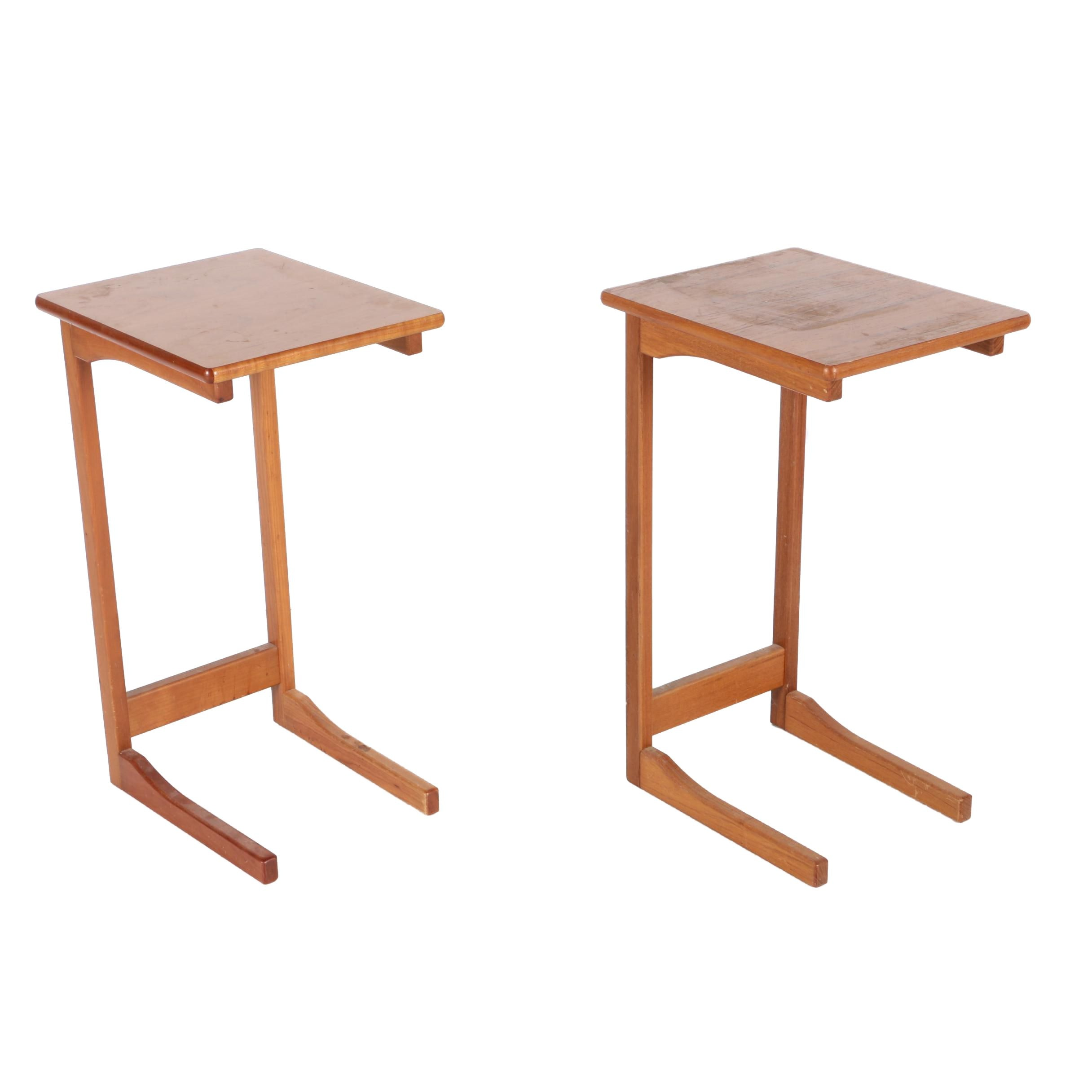 Two Danish Modern Teak Writing Stands by FBJ Møbler