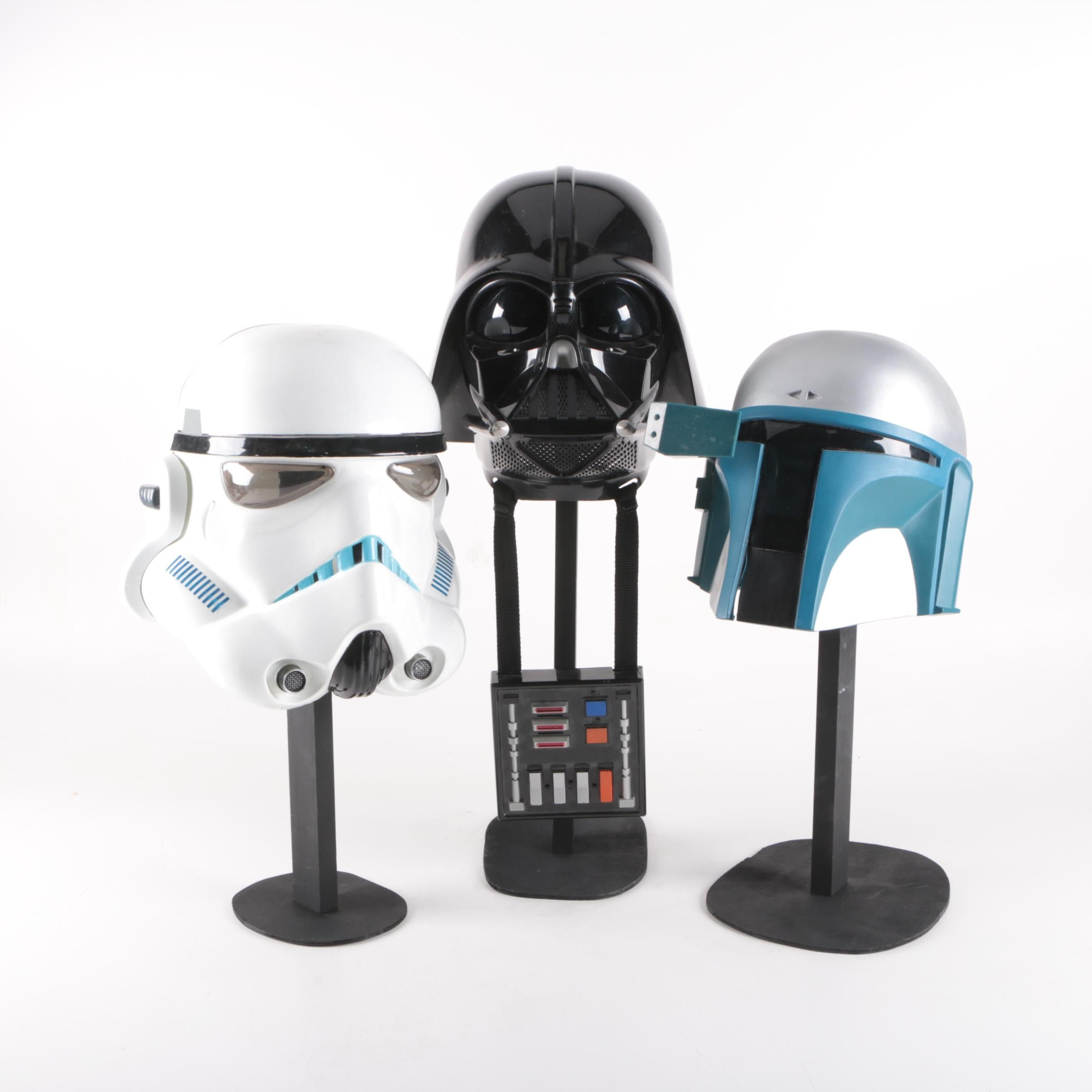 """Star Wars"" Costume Helmets with Display Stands"