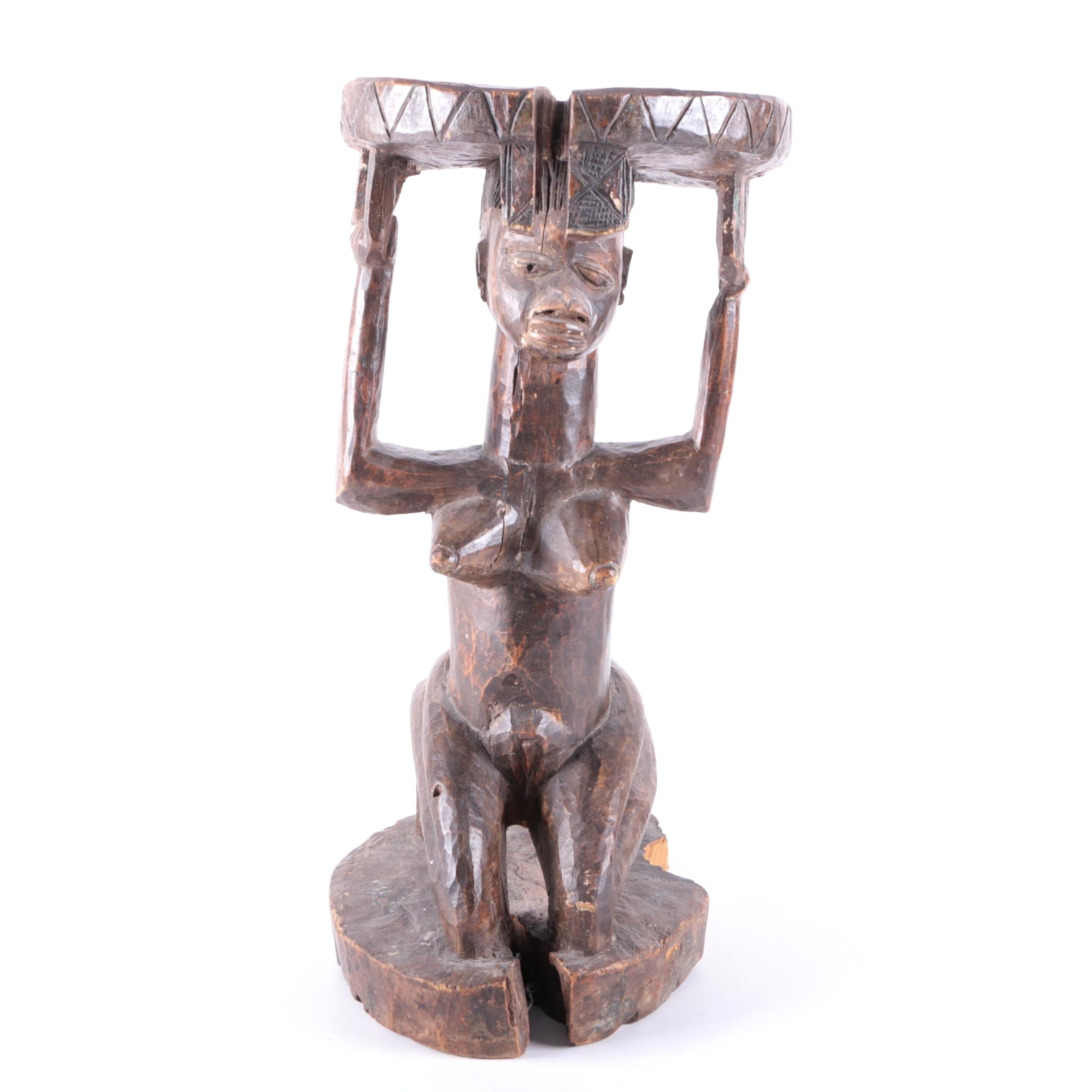 Carved Wood African Figurine