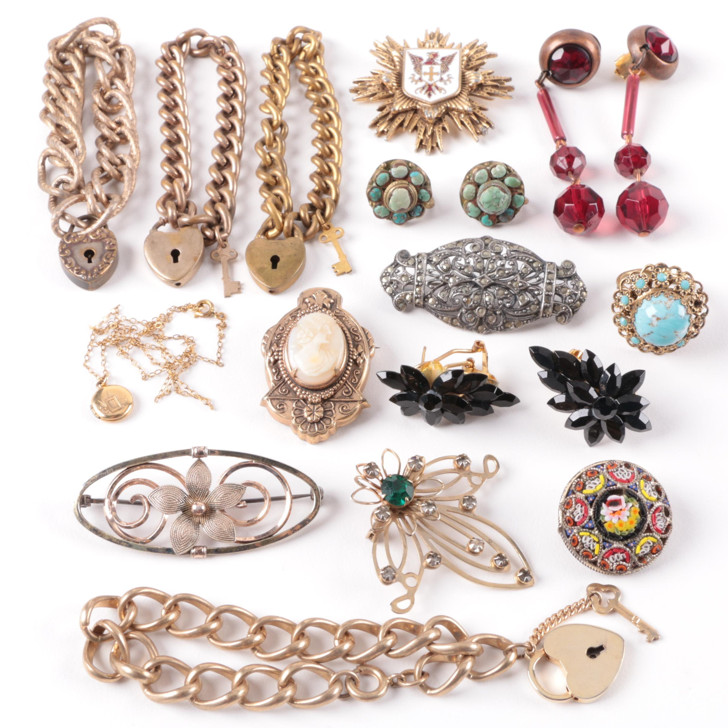Selection of Vintage Costume and Gemstone Jewelry