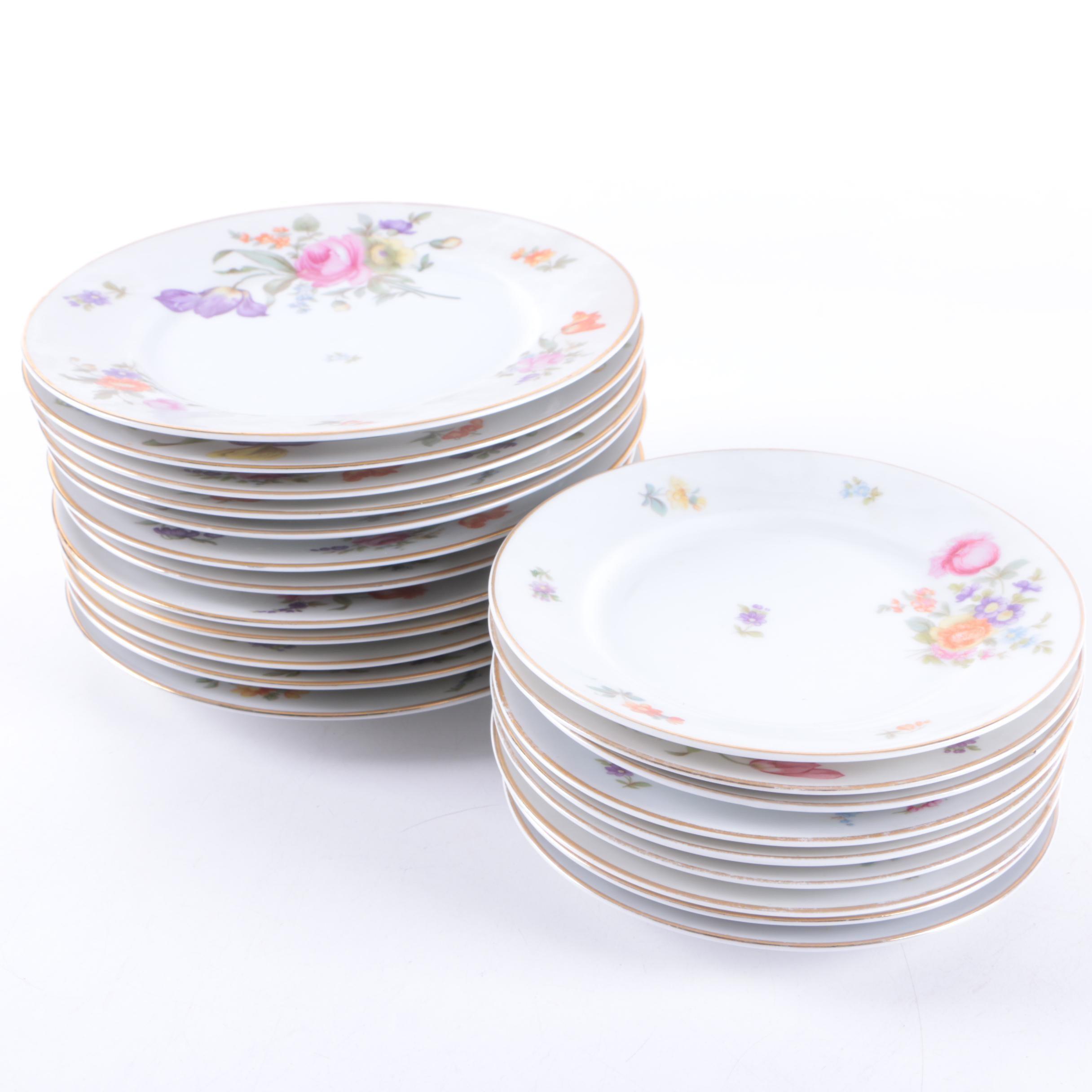 Vintage Krister Porzellan-Manufaktur Porcelain Plates