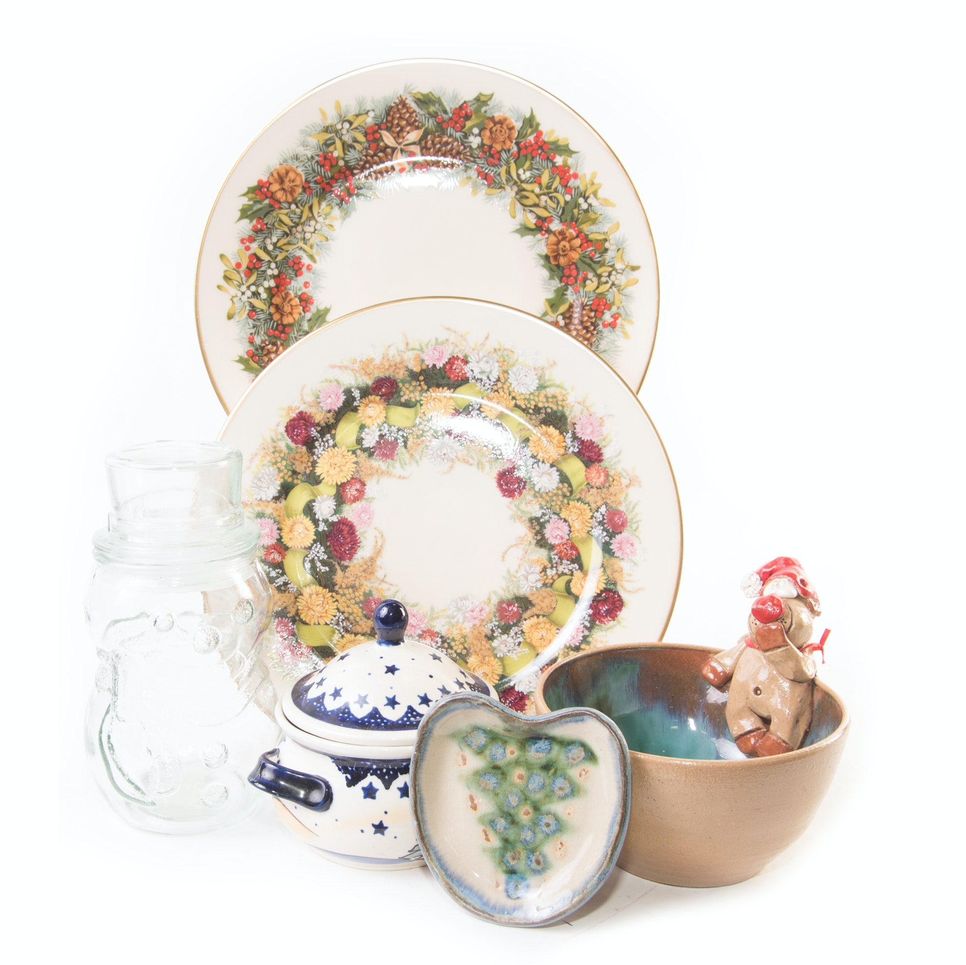 Christmas Decor Featuring Lenox Annual Plates