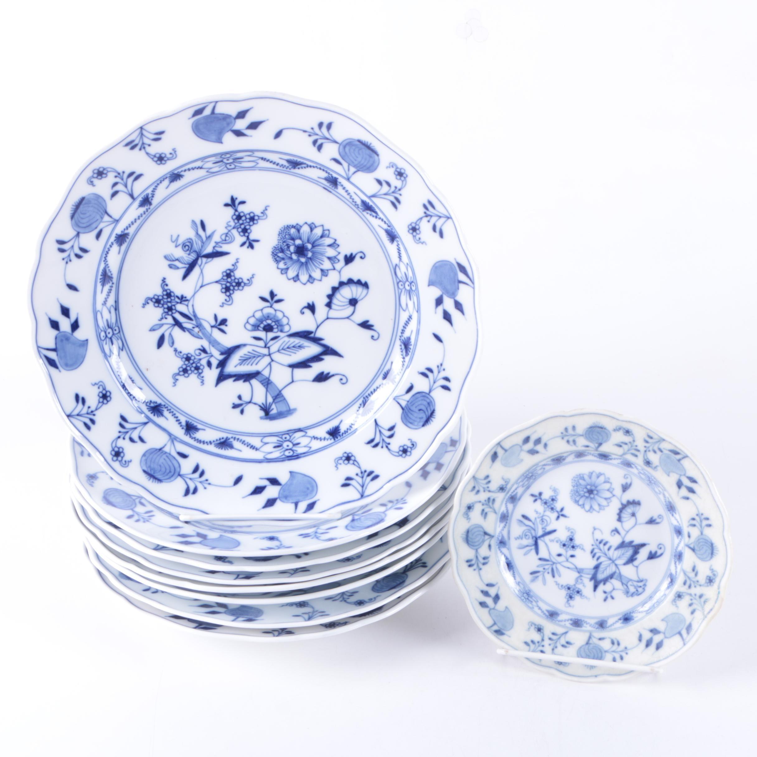 "Meissen ""Blue Onion"" Porcelain Tableware"