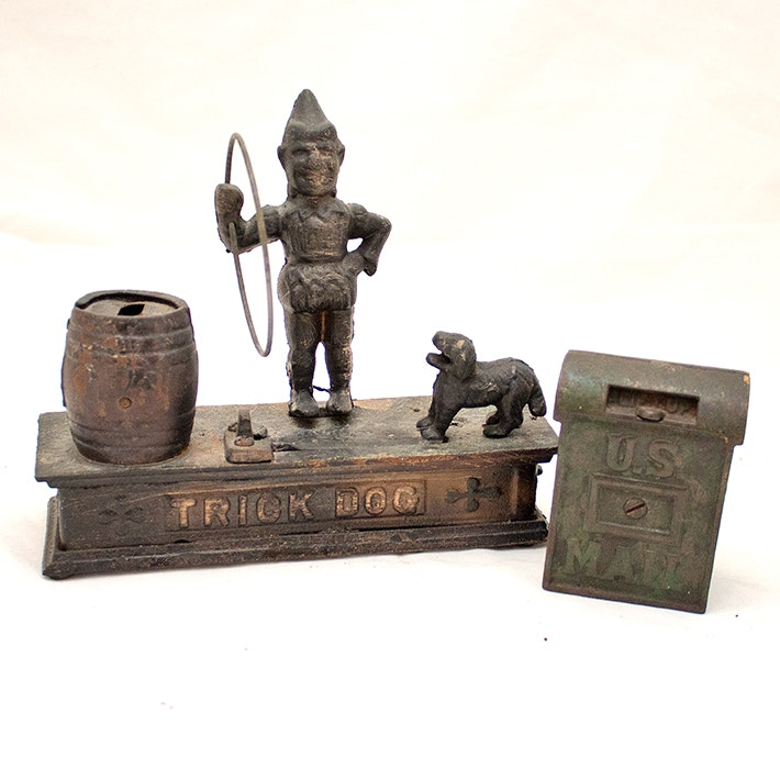 Early 20th Century Wrought Iron Coin Banks