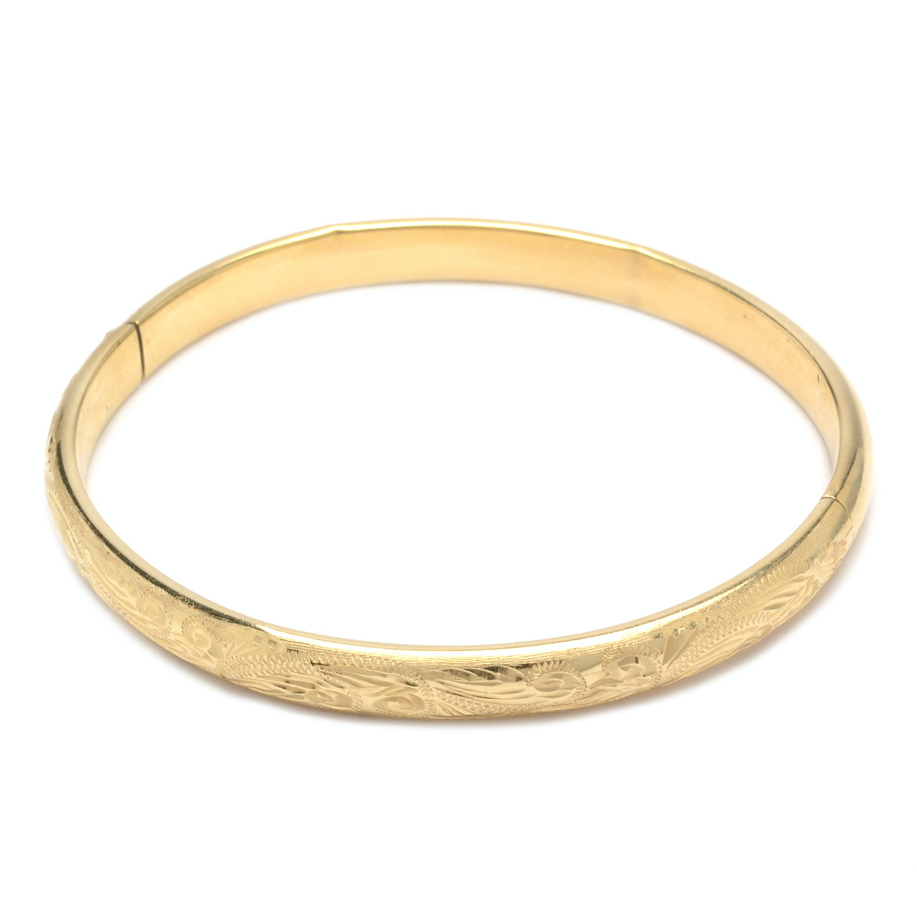 14K Yellow Gold Milor Italy Bangle Bracelet