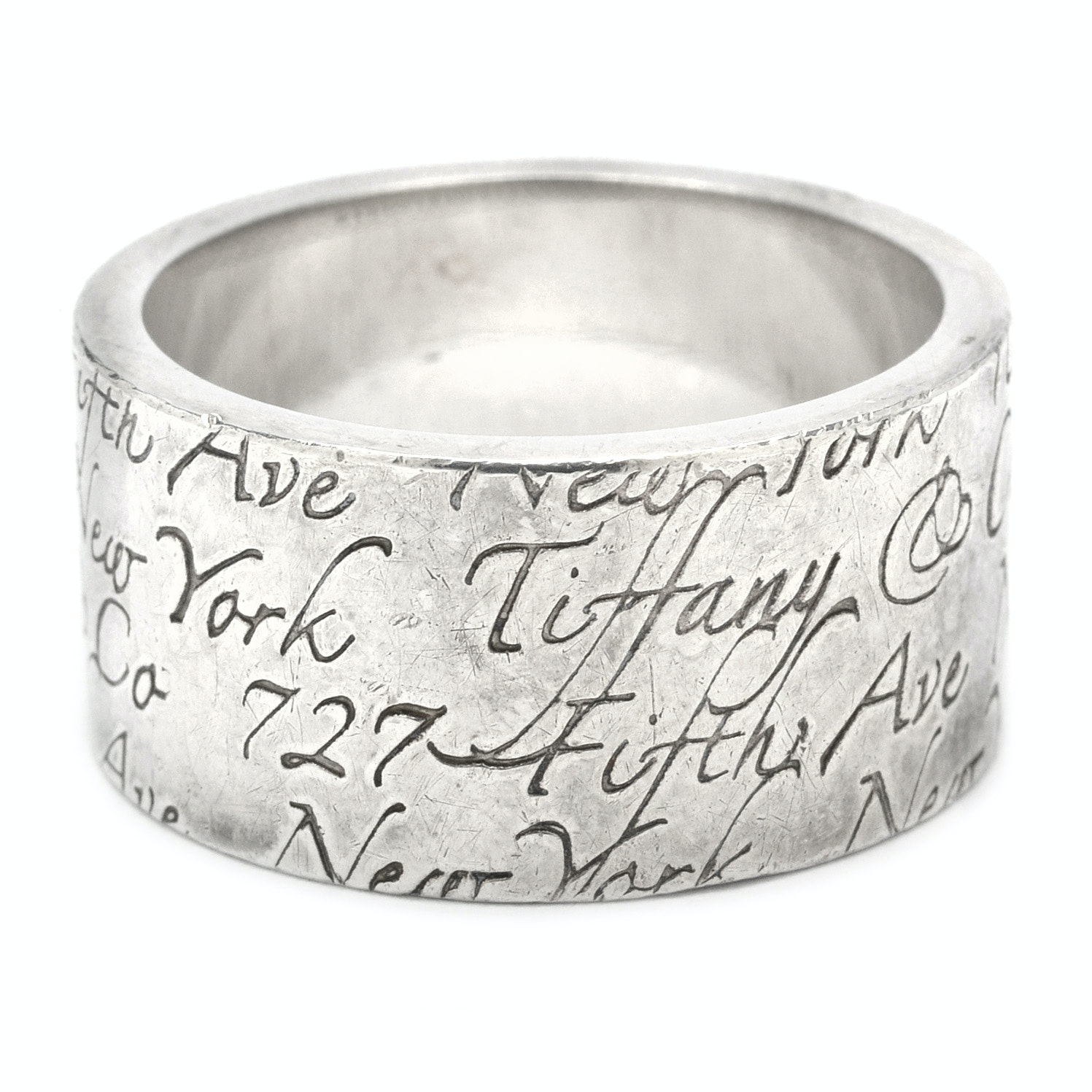 "Tiifany & Co. Sterling Silver ""Notes Collection"" Ring"