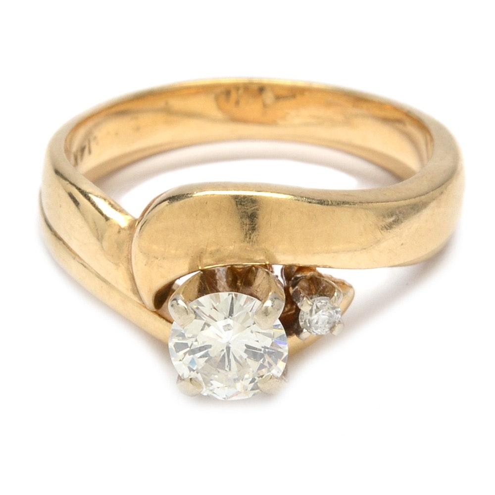 14K Yellow Gold Diamond Bridal Ring Set
