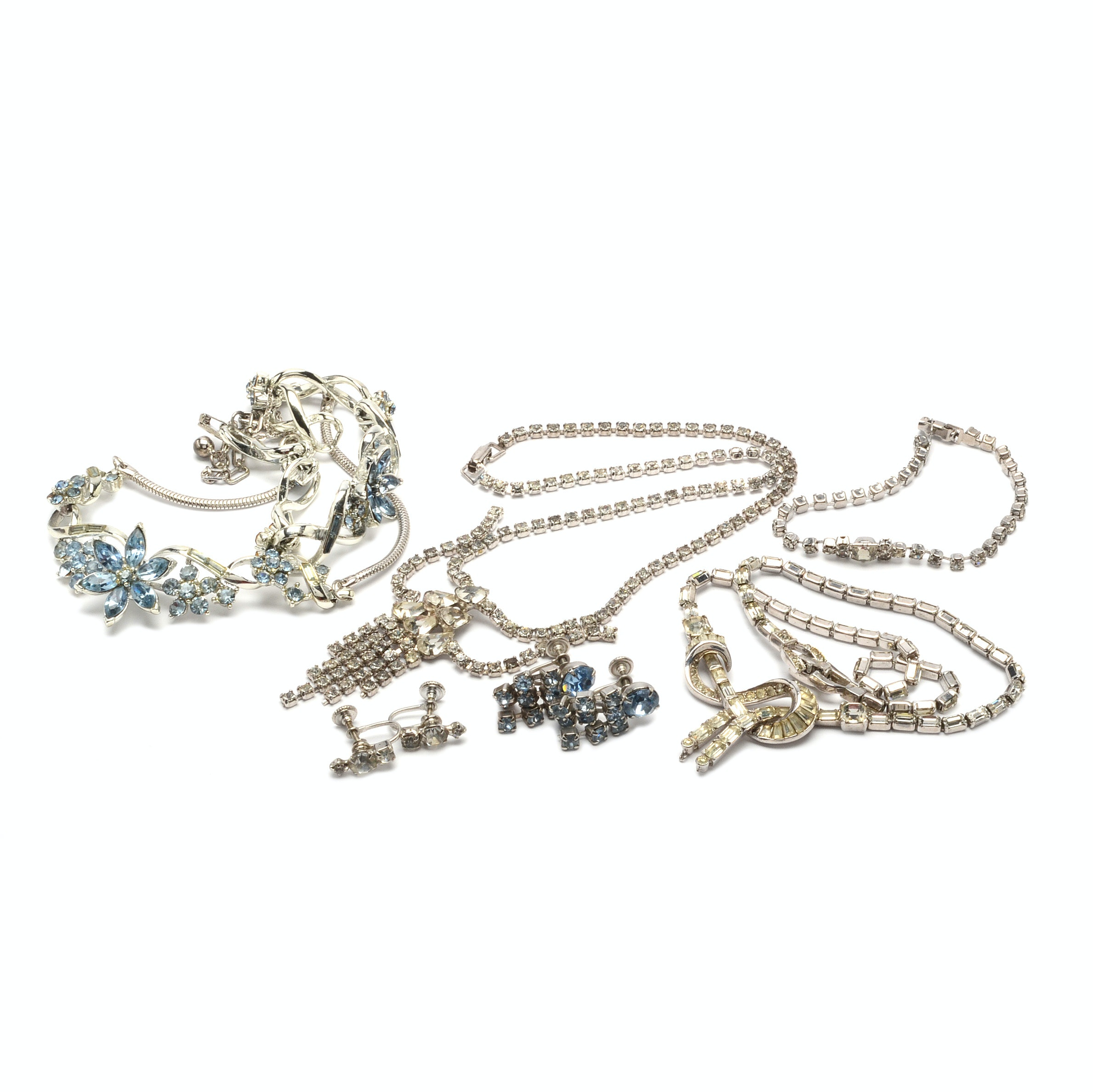Vintage Rhinestone Jewelry Including Weiss