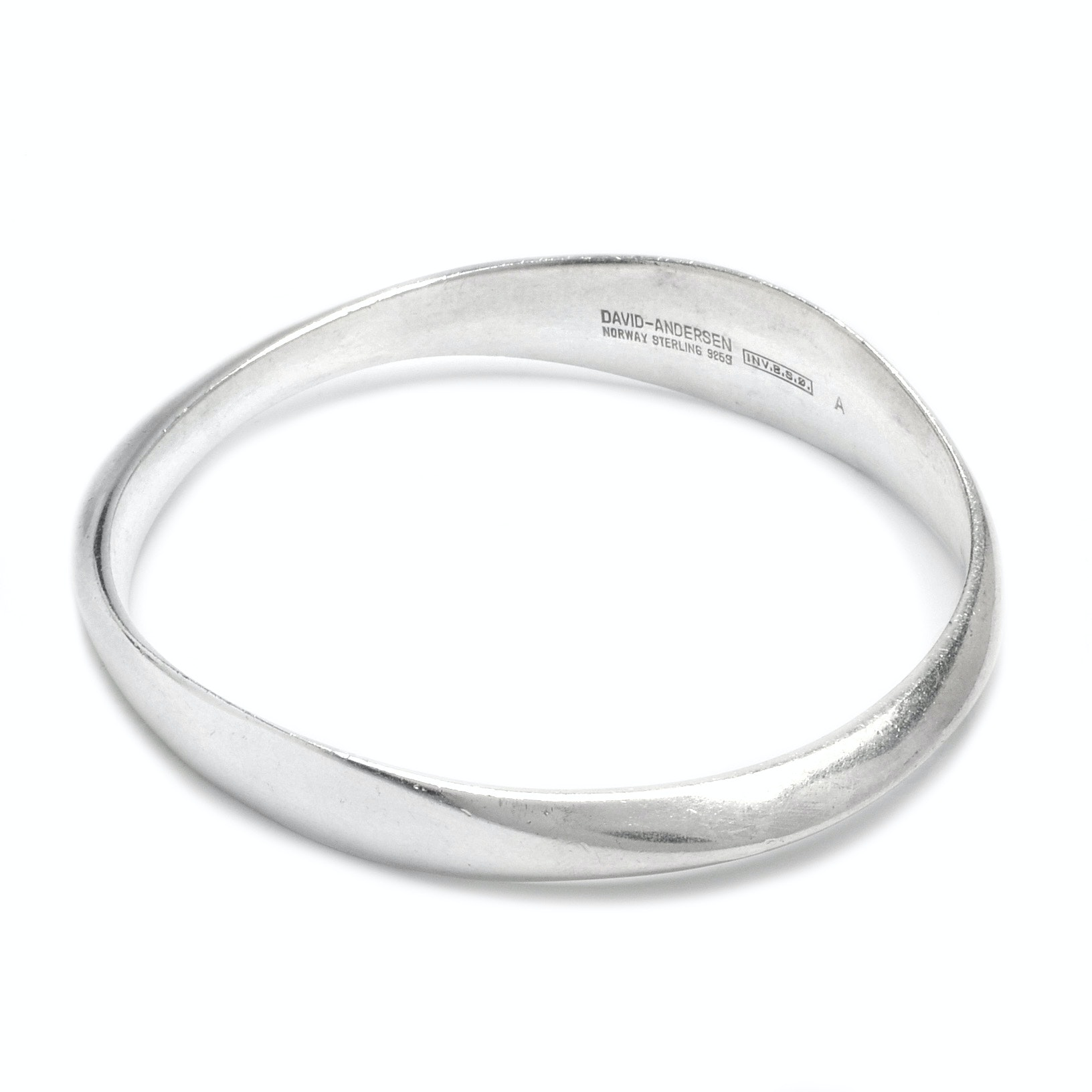 David Andersen Modernist Sterling Silver Bangle Bracelet