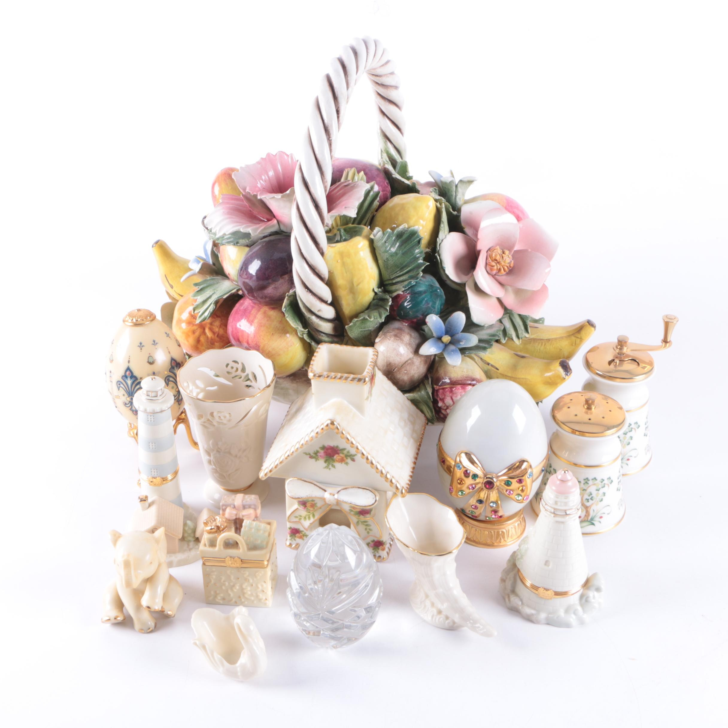 Home Décor and Tableware Featuring Capodimonte and Lenox