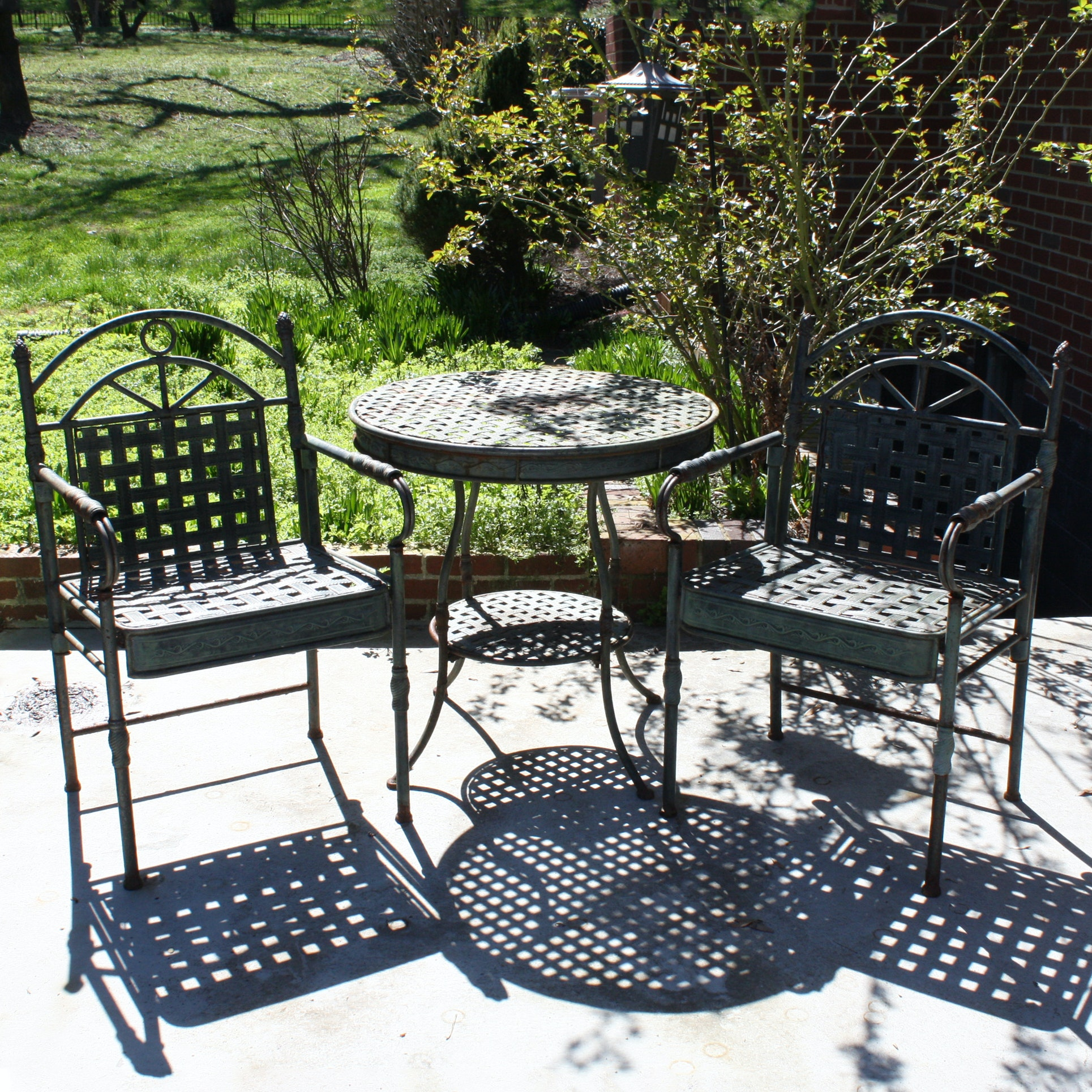 Patio Table and Two Armchairs