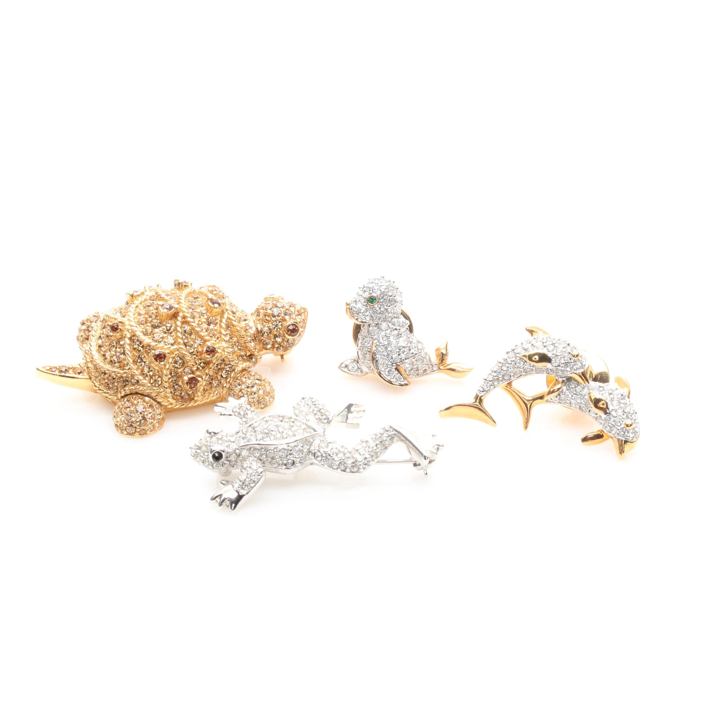 Ciner and Swarovski Animal Brooches and Pins