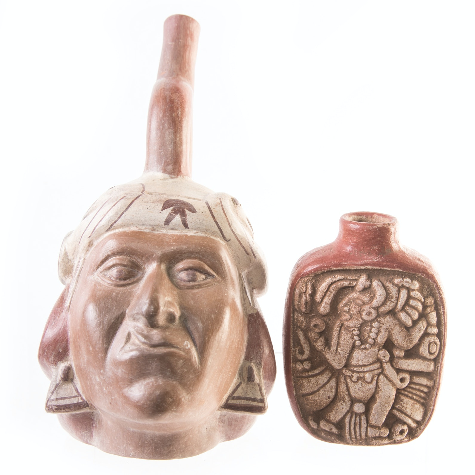 Peruvian Pottery including Portrait Vessel