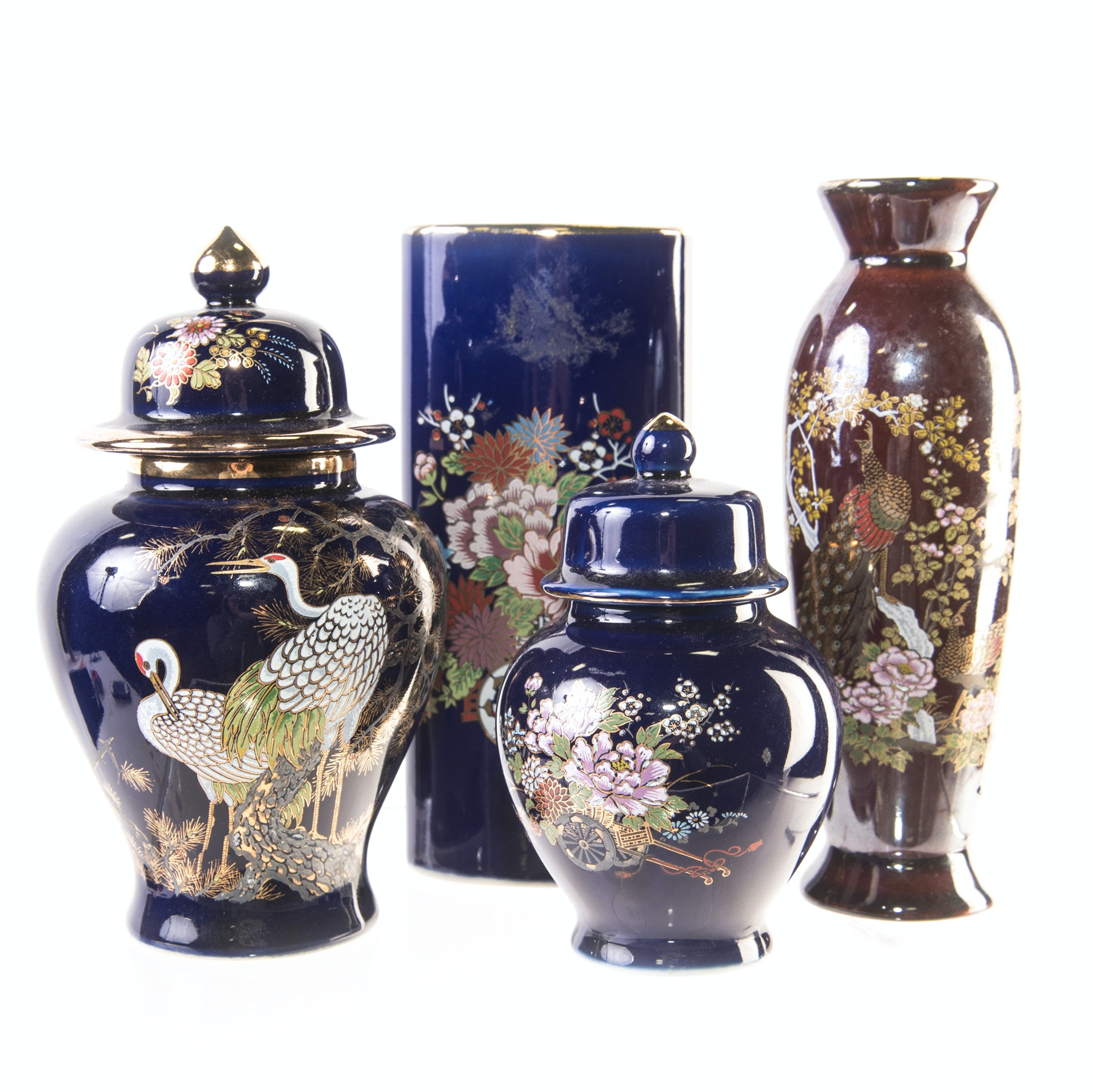 Petite Japanese Vases and Ginger Jars