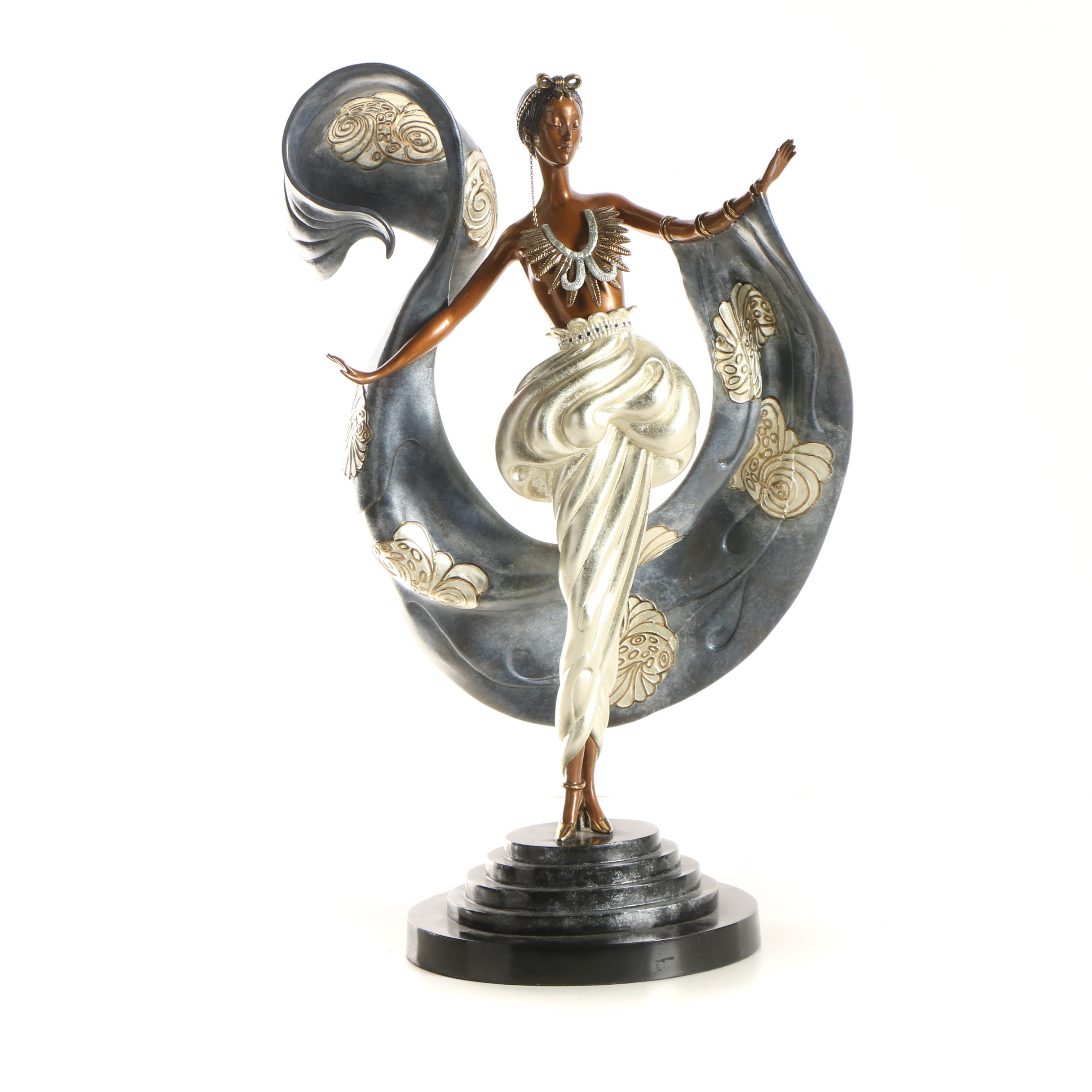 "Erté Patinated Bronze Sculpture ""Dream Girl"""