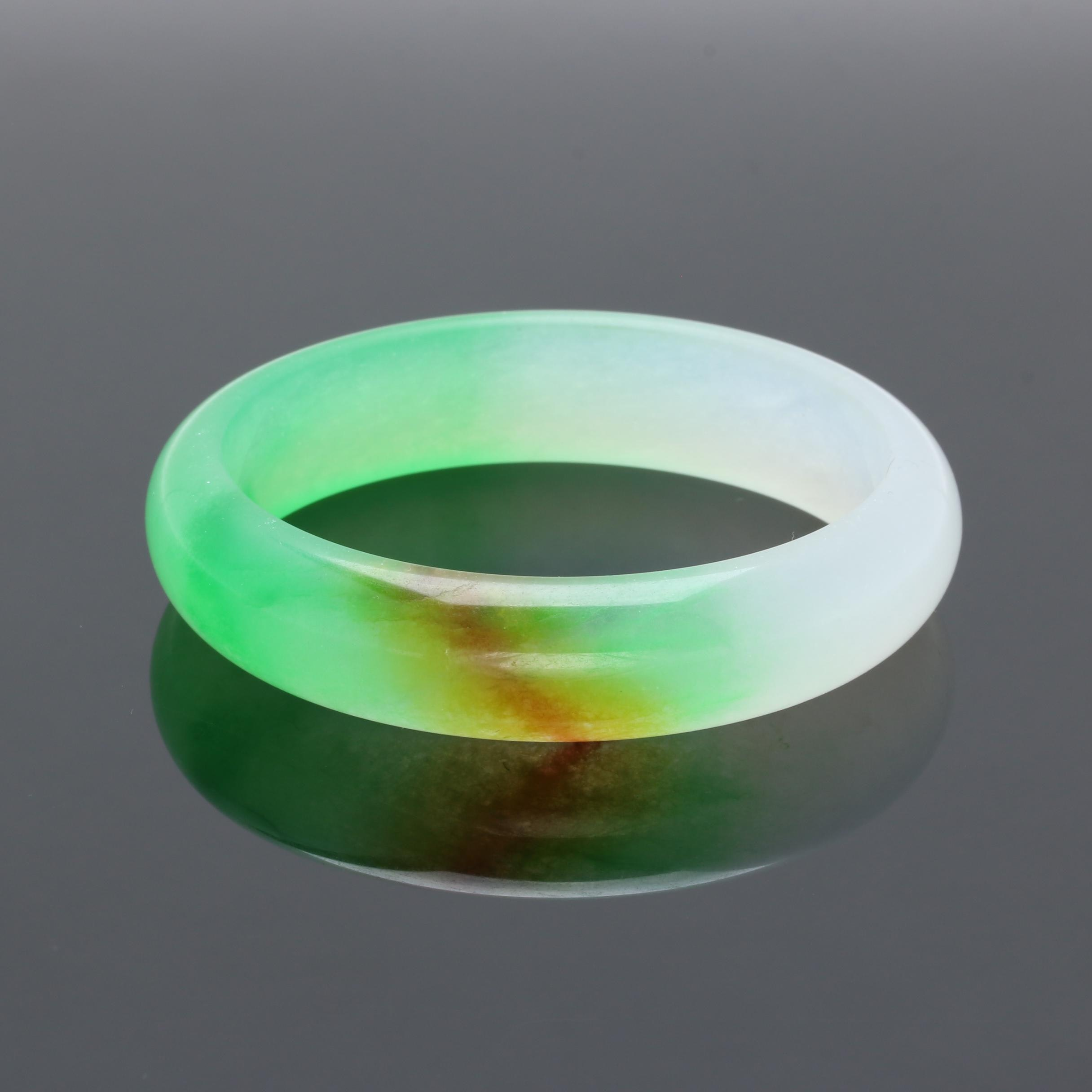 Dyed Jadeite Bangle Bracelet