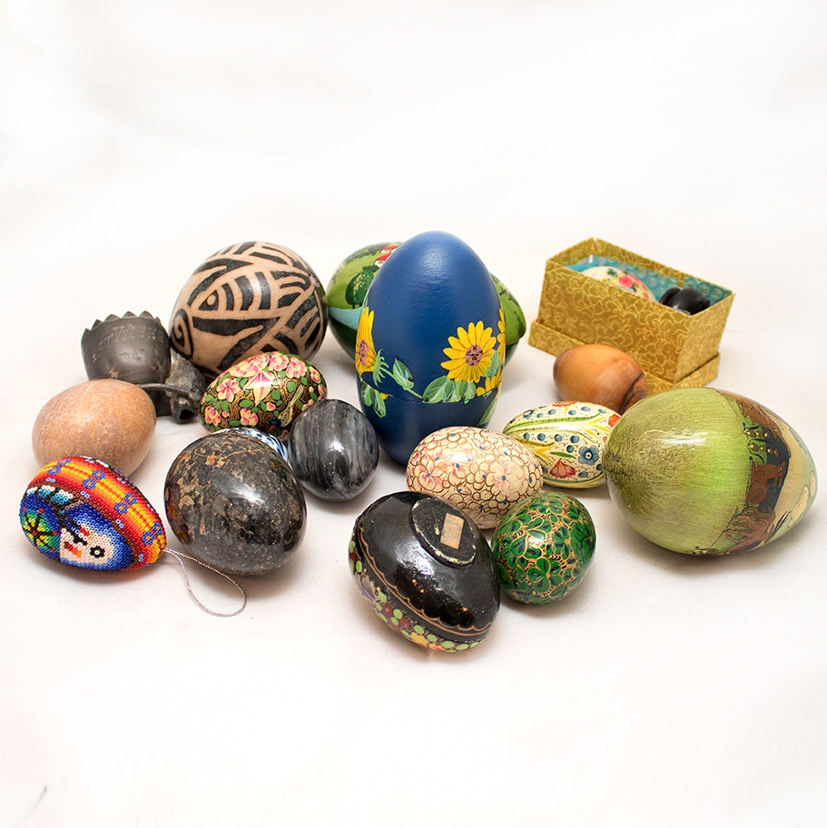 Generous Collection of Egg Figurines