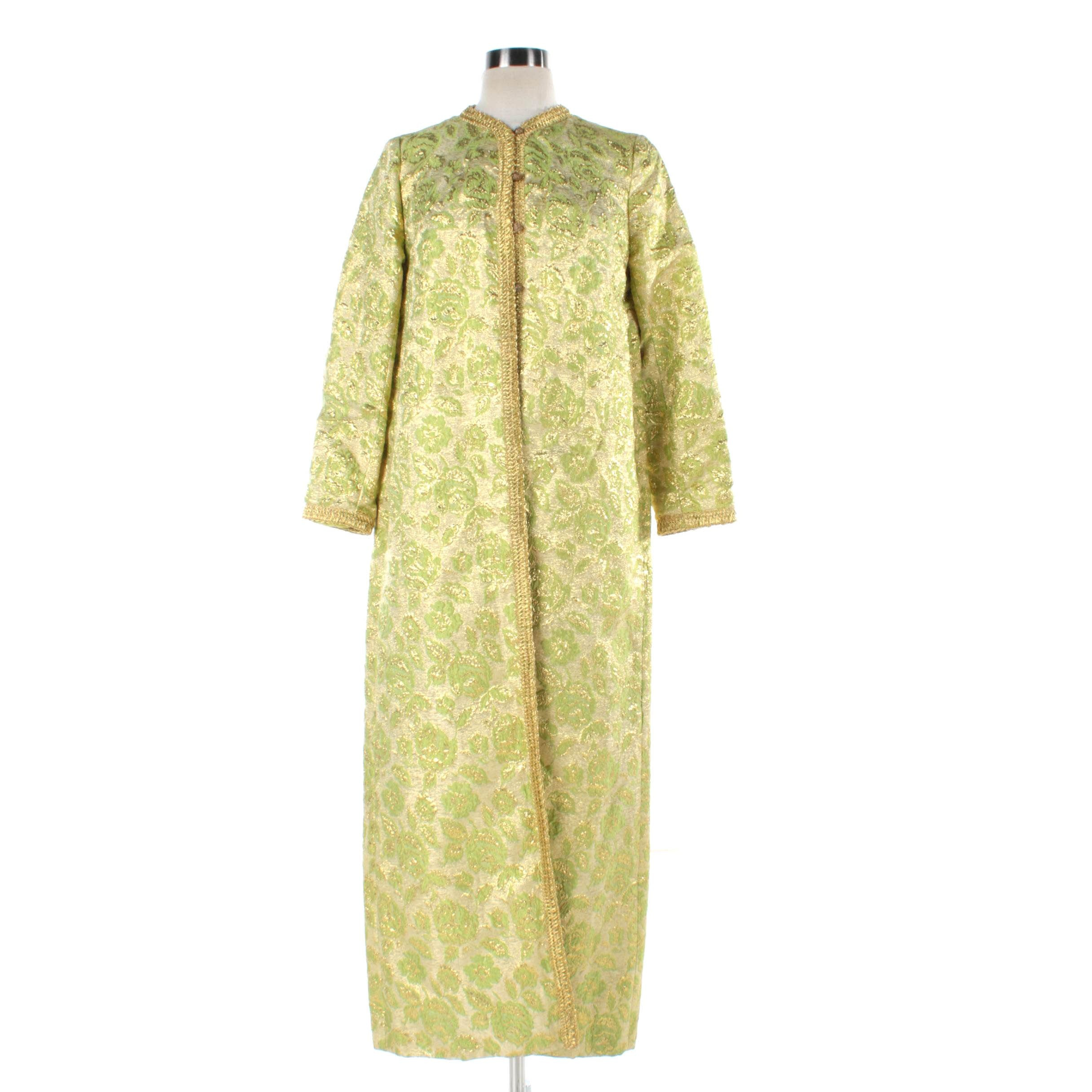 Women's Vintage Asian Inspired Imperial Brocade Robe