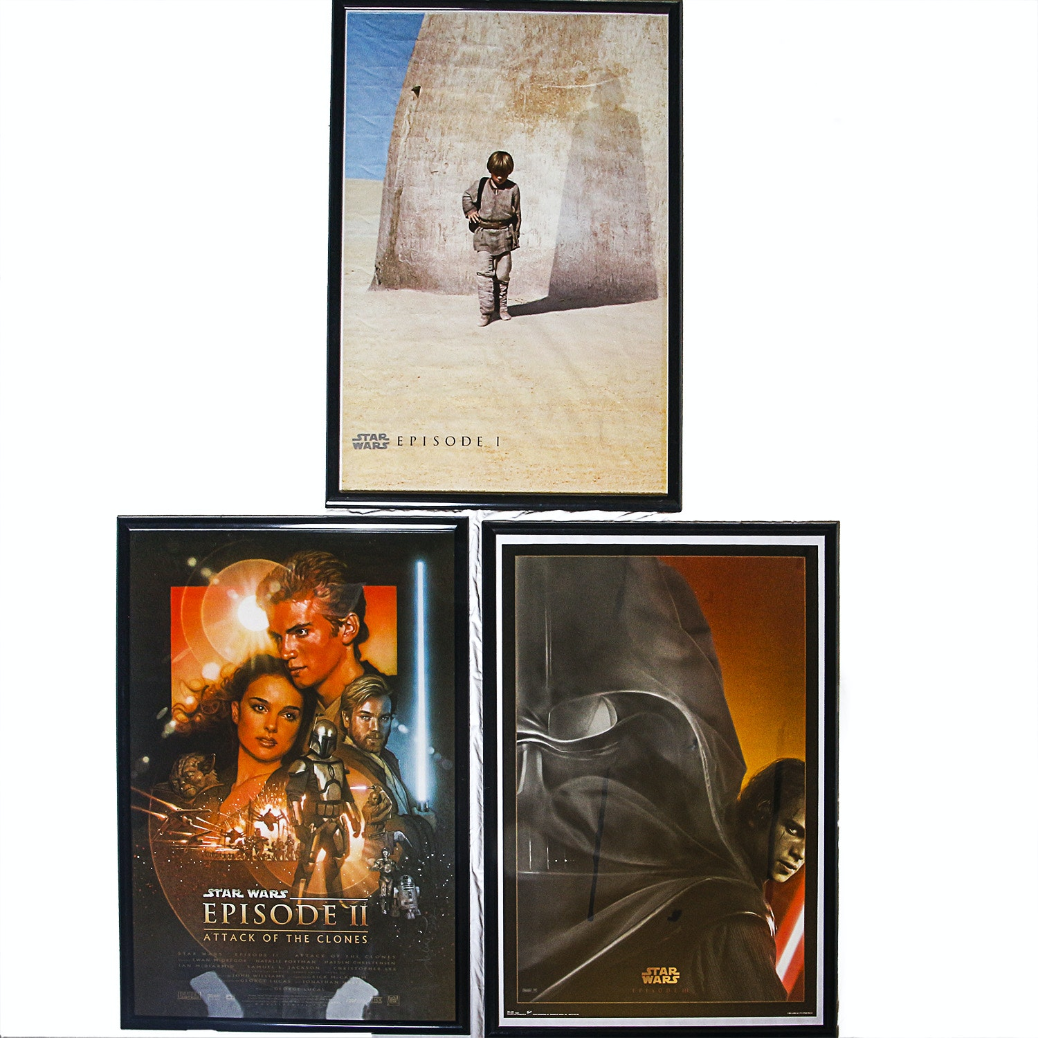 """Star Wars"" Episodes I, II, and III Posters"
