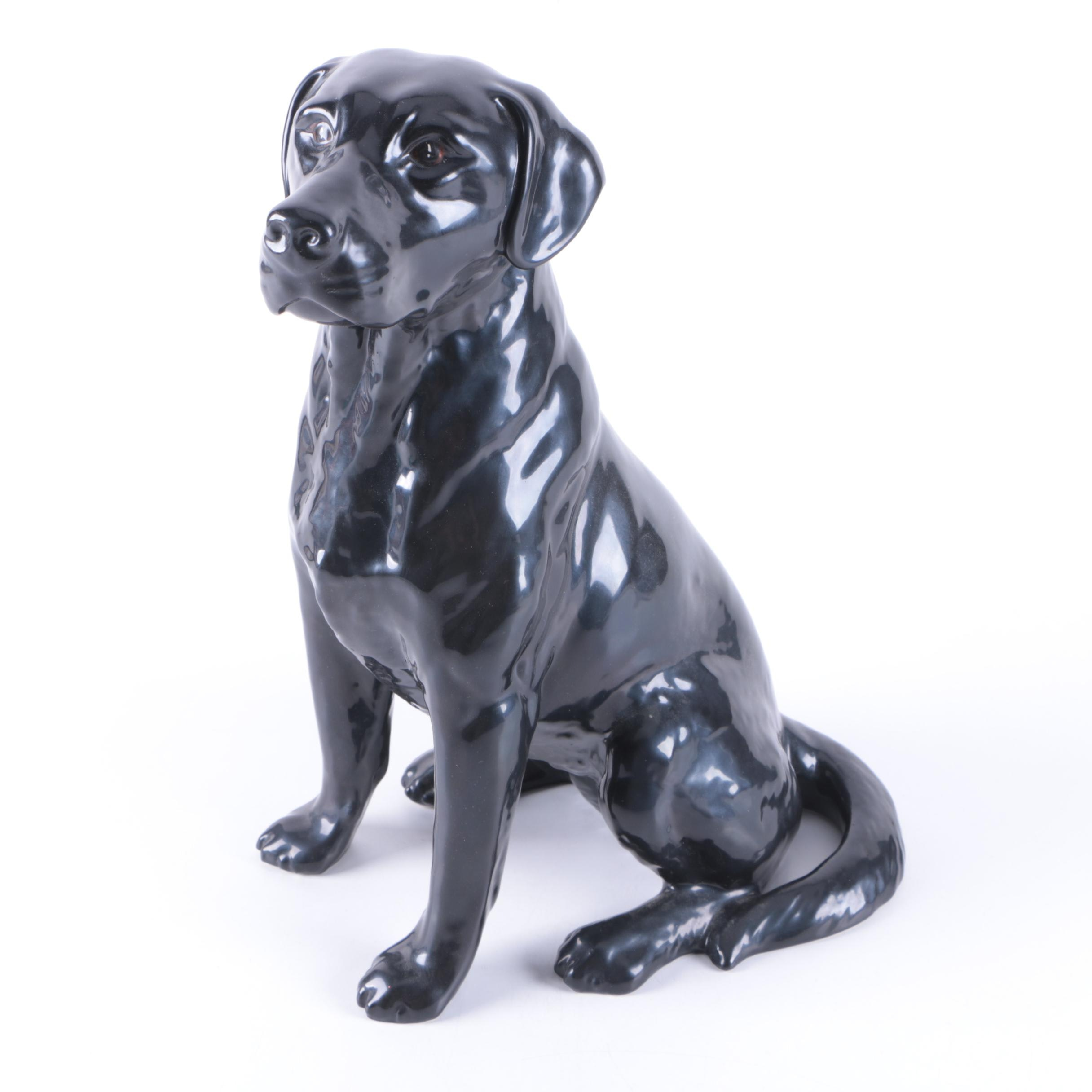 Royal Doulton Fireside Black Labrador Dog Figurine
