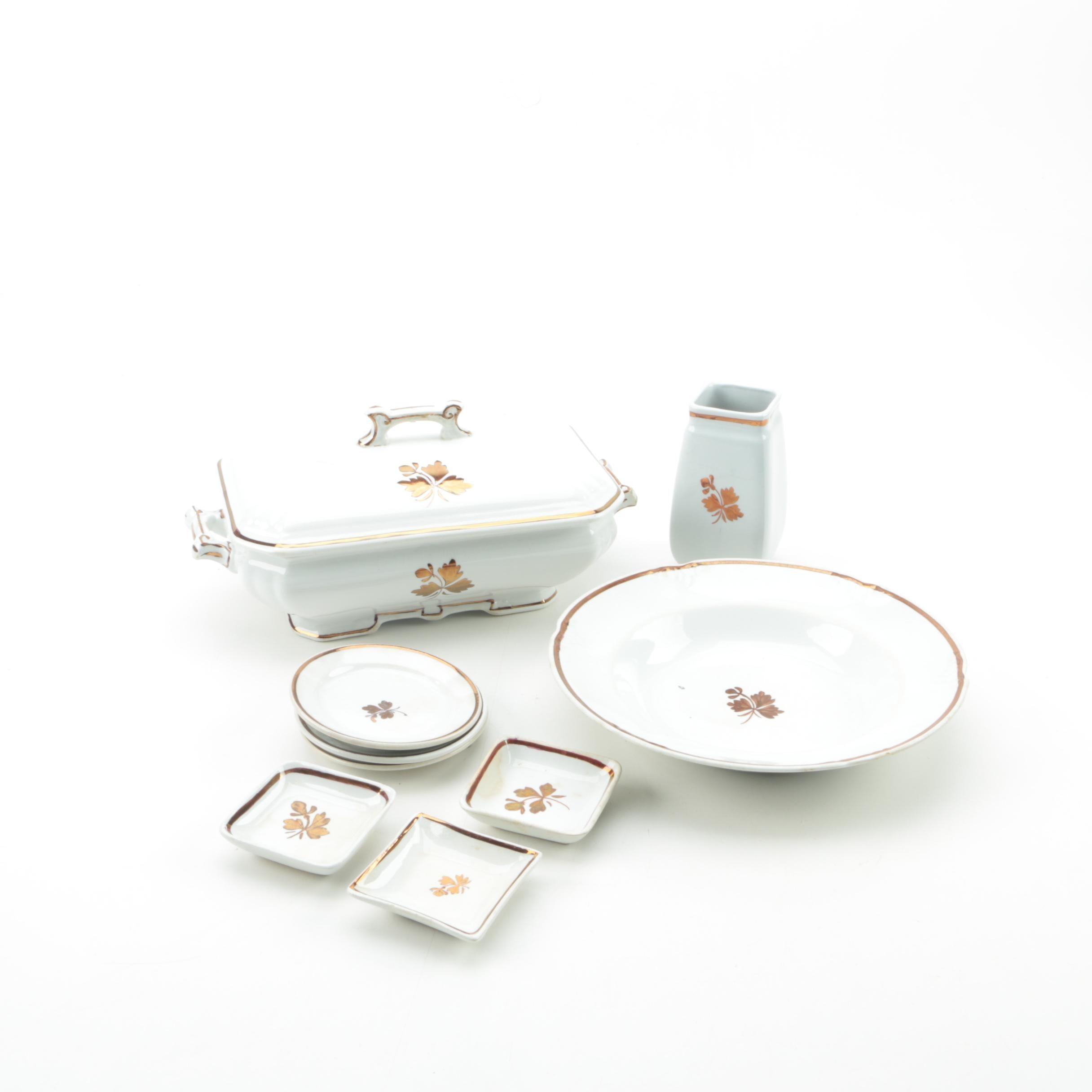 """""""Tea Leaf"""" Serveware Featuring Alfred Meakin"""