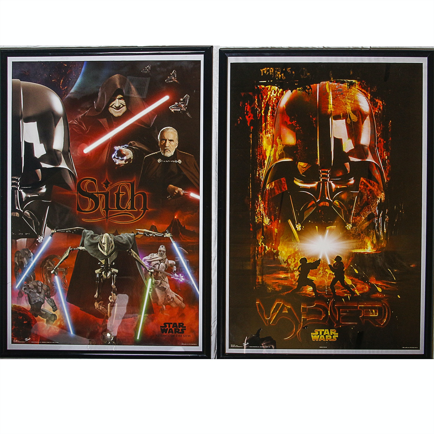 """Star Wars: Episode III Revenge of the Sith"" and Darth Vader Posters"