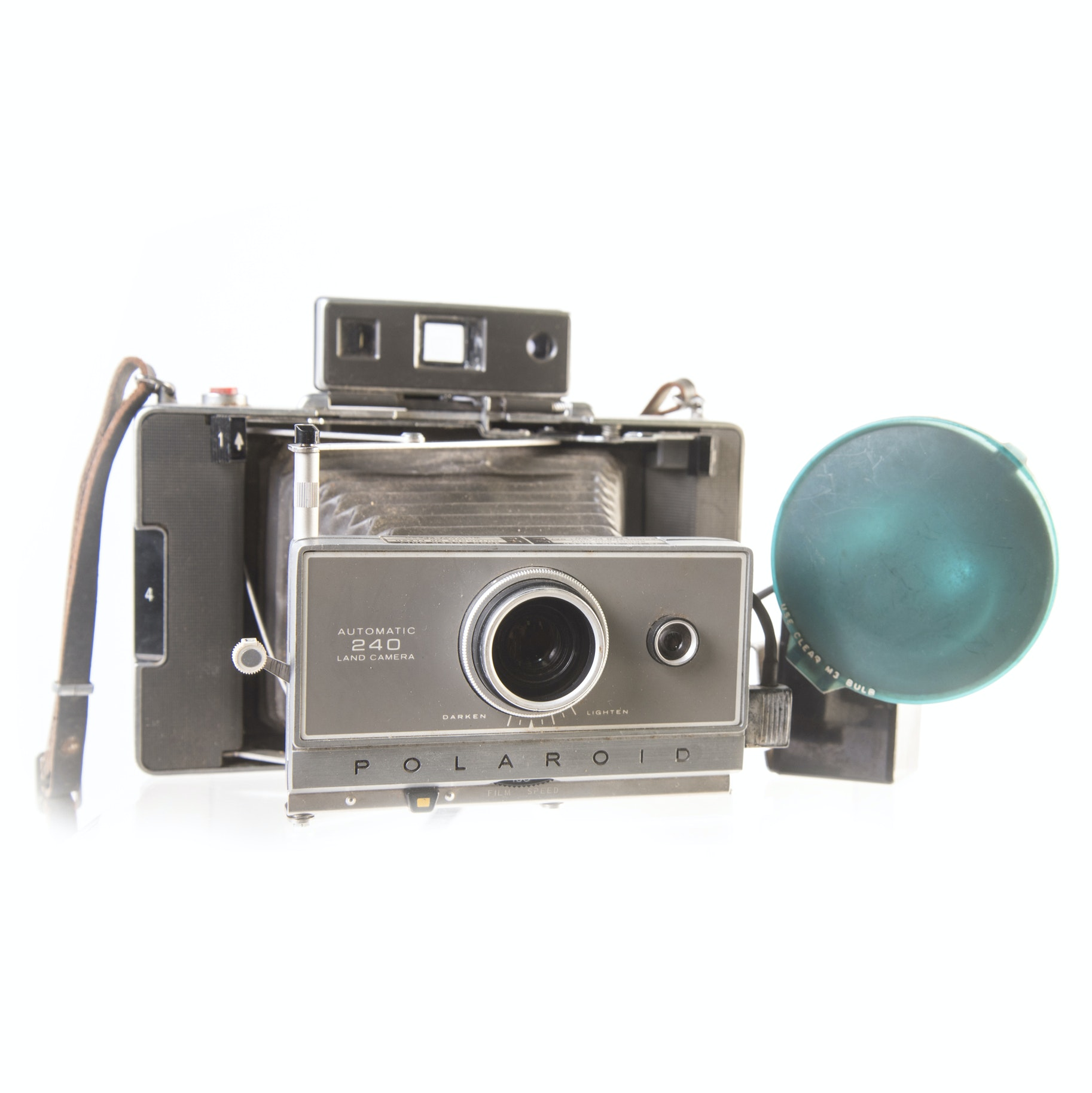 Vintage Automatic 240 Polaroid Land Camera and Accessories
