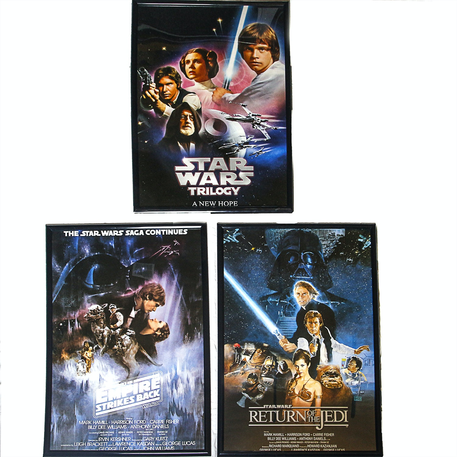 """Star Wars"" Episodes IV, V, and VI Posters"