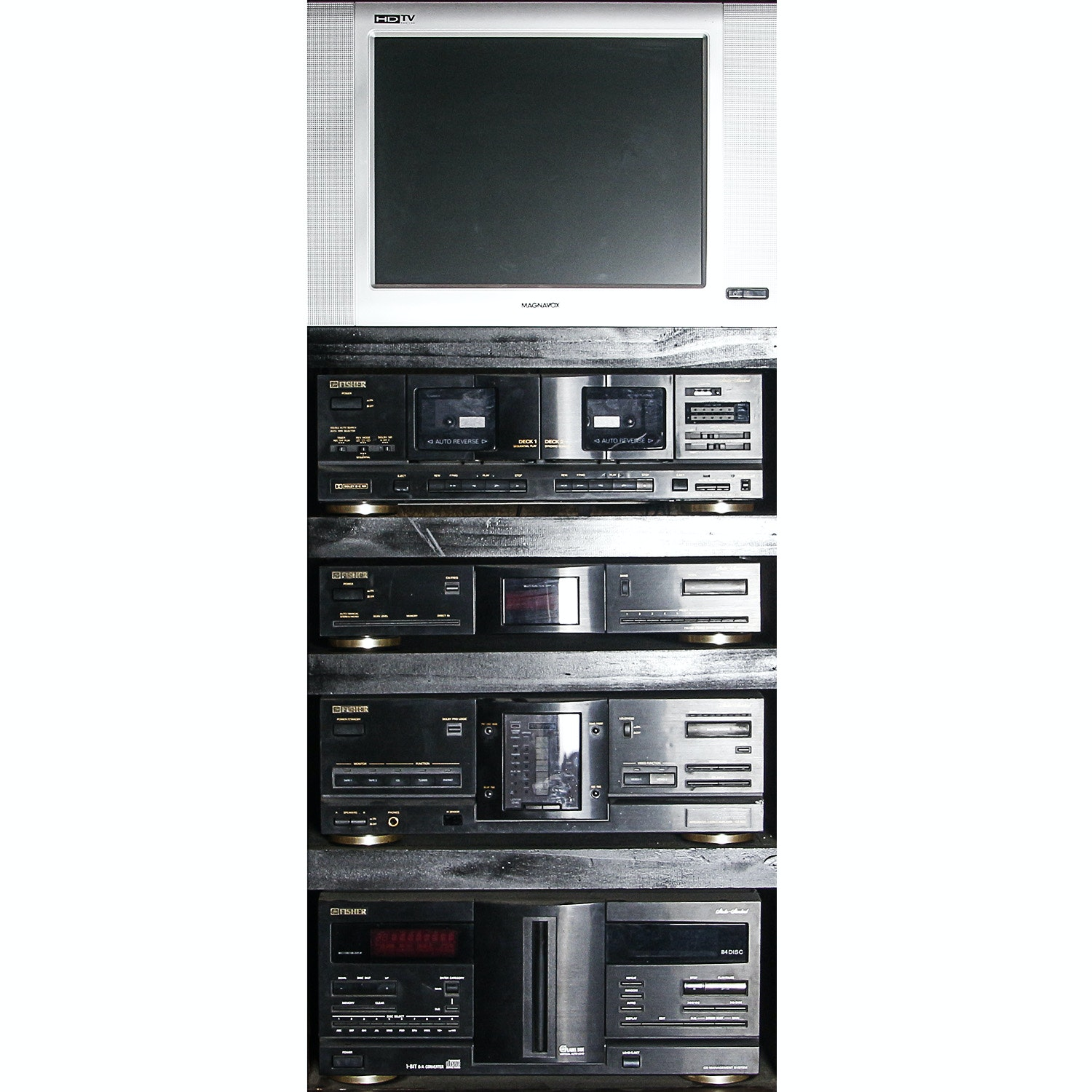 Magnavox Monitor and Fisher Stereo Components