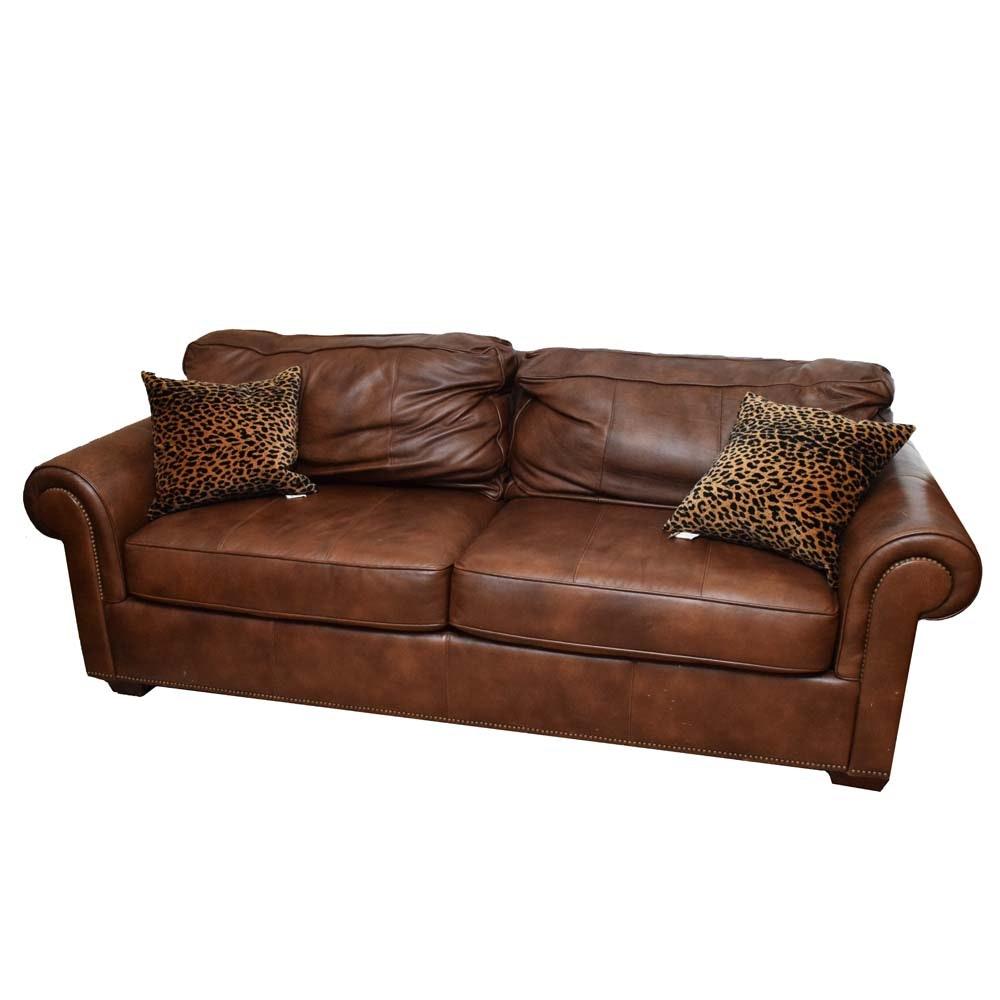 Leather Sofa by Bernhardt