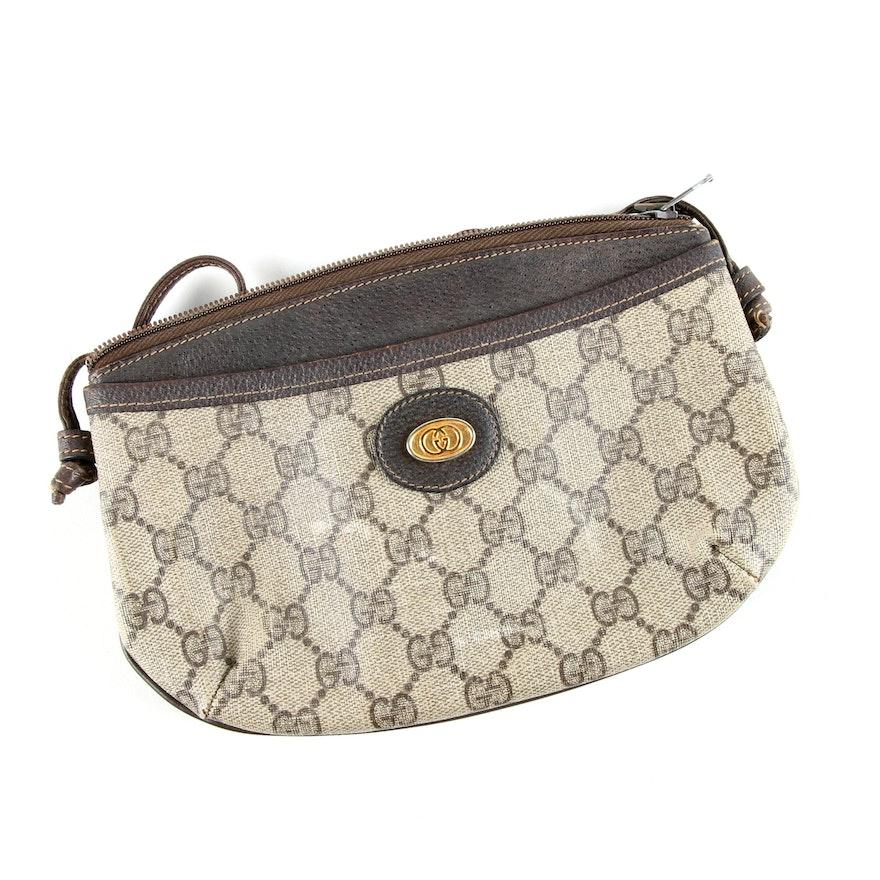 acfff08f11bd Vintage Gucci Monogram Canvas Shoulder Bag : EBTH