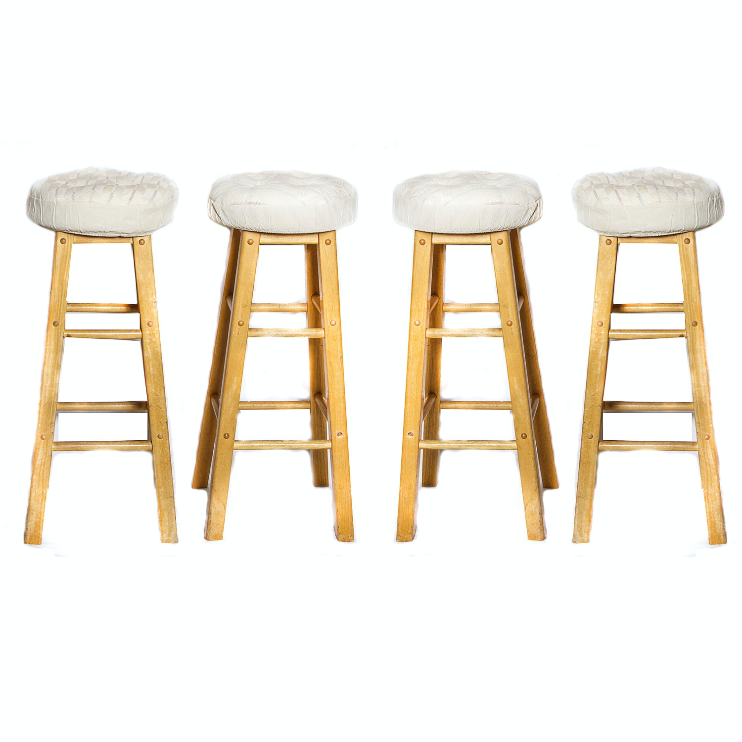 Four Oak Barstools