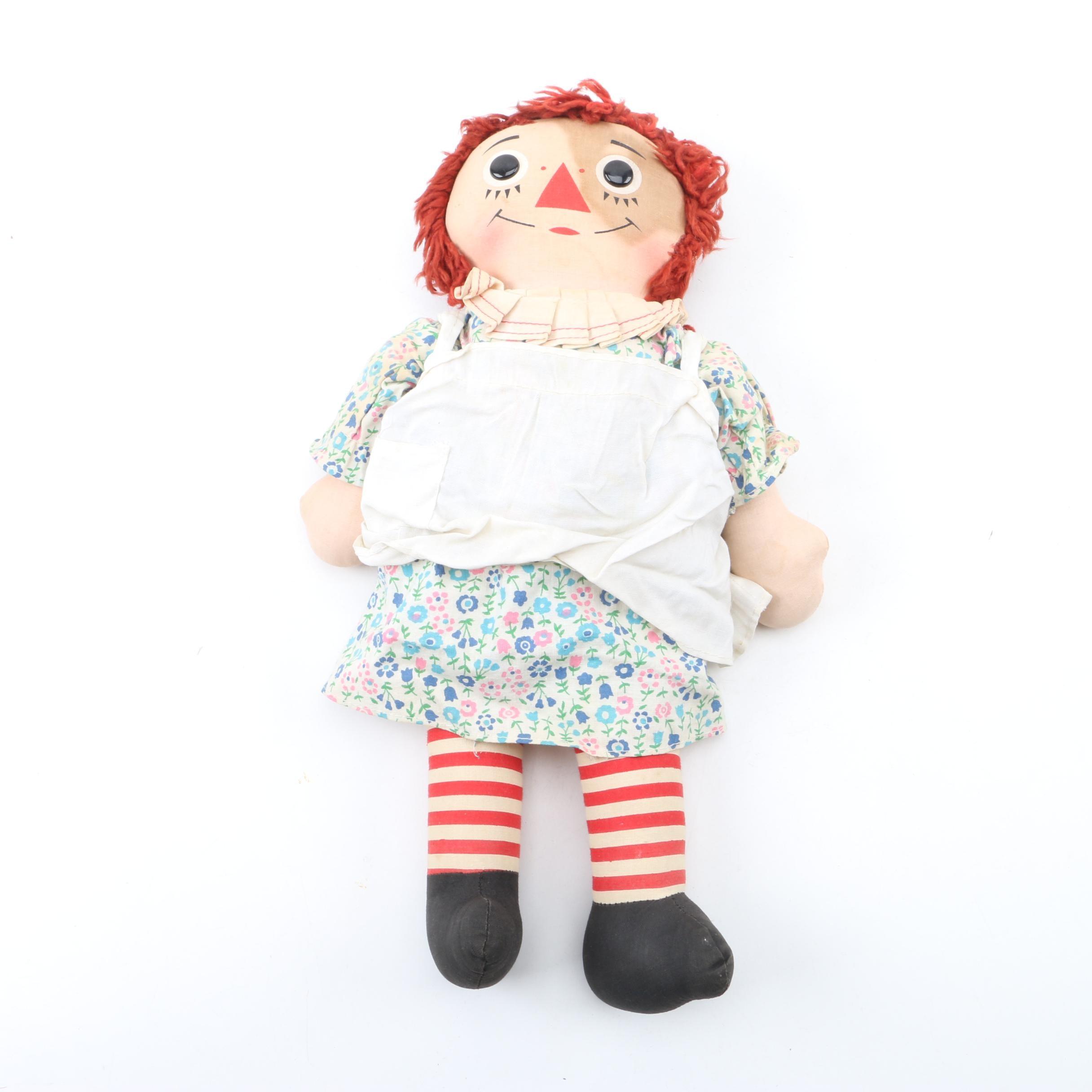 "Vintage Knickerbocker ""Raggedy Ann"" Plush Doll"
