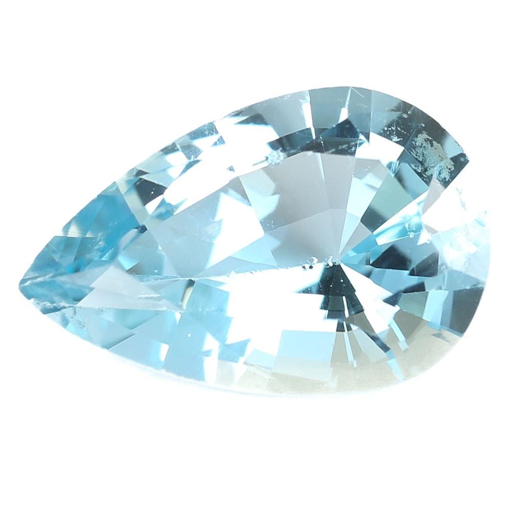 Loose 6.47 CT Blue Topaz Gemstone