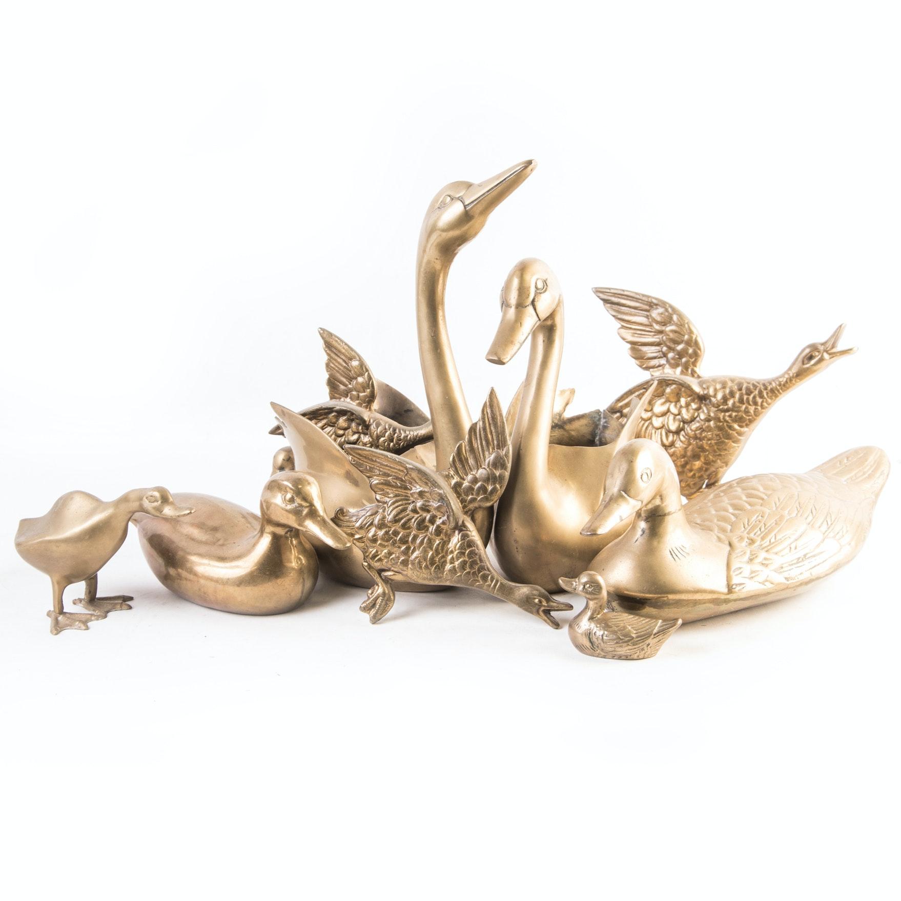 Brass Duck and Geese Collection