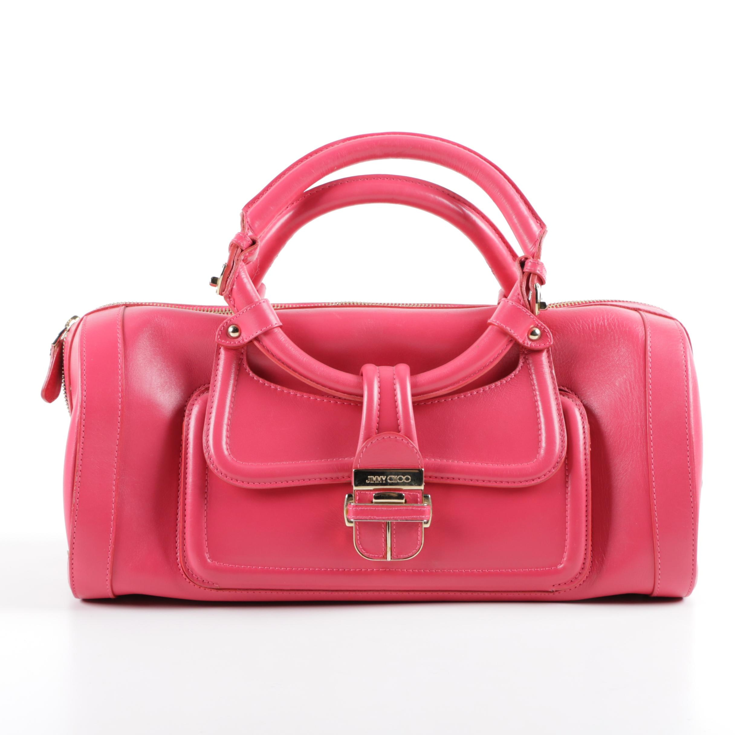 Jimmy Choo Tahula Hillary Doctor Bag in Pink Leather