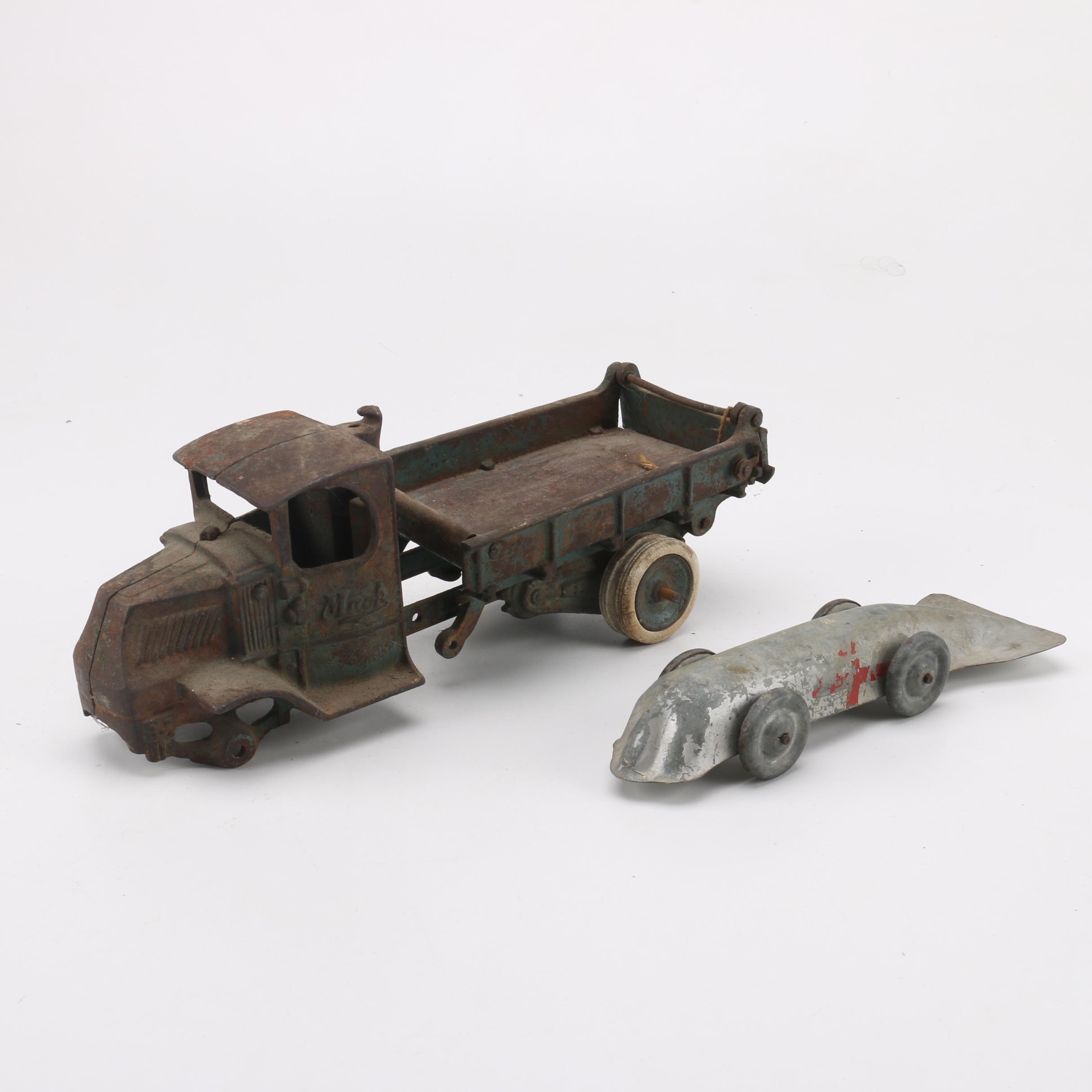Vintage Cast Metal Toy Vehicles