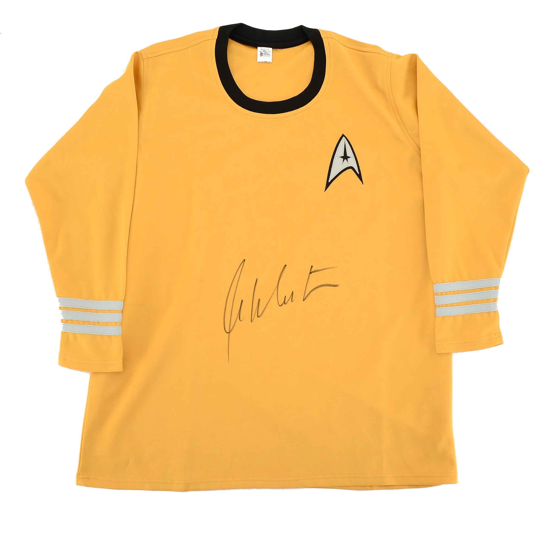 """William Shatner """"Capt. Kirk"""" Signed Star Trek Shirt COA"""