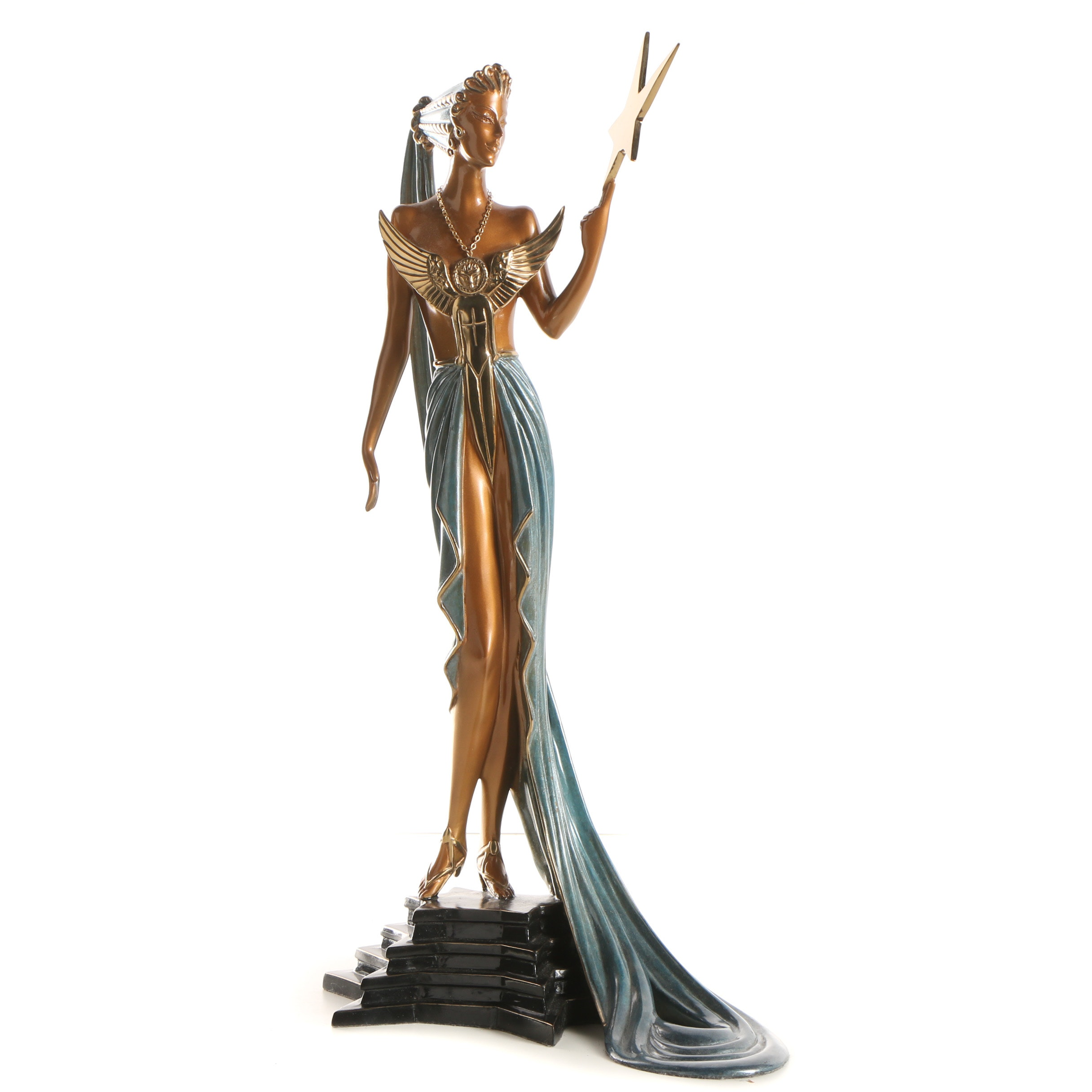 "Erté Patinated Bronze Sculpture ""Astra"""